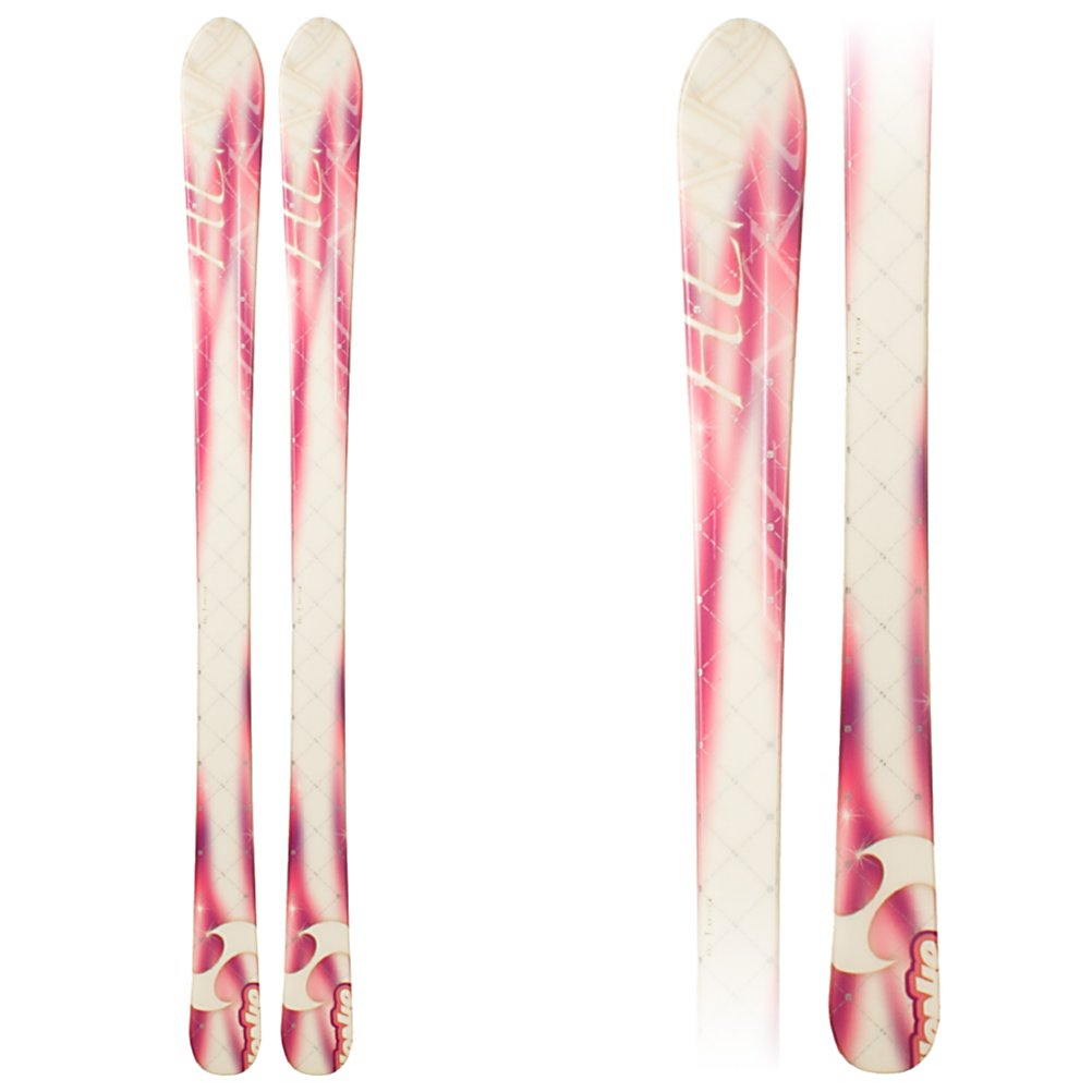 Ski HENKE Stars Blem Girls Skis - The Henke Star Skis will take your girl to the slopes for an easy to learn ski experience. The Henke Ski is all about flexibility as it moves easily with you and forgiving offering you a secure ride. These all mountain skis offer an introduction to the fun of skiing. Get your girl out on the hill in style as her ski shapes to her personal use - no rental could compare to your personal choice and this great value. The Henke Ski is a nice and lightweight ski that is easy for the freshest riders to be able to turn easily. . Actual Turn Radius @ Specified Length: 10m@130c, Warranty: One Year, Type: Frontside Skis ( - $64.99