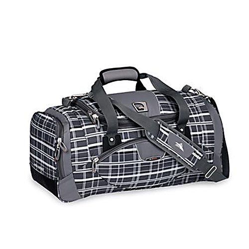 Entertainment High Sierra 22 Inch Sport Travel Duffel Bag - Functional, stylish and very lightweight, the High Sierra 22 Inch Sport Travel Duffel is everything you need when you need to take just about anything. Designed with a special built-in high density foam structure, this bag will maintain its shape while remaining lightweight. The main compartment on this duffel has a U-Shaped Zippered Opening plus the two side-loaded end compartments can hold anything from shoes, to clothes to accessories which makes overall packing a breeze. There's a front pocket that can hold your quick-access items like keys, passport or tickets. A Breathable Mesh Bottle Pocket on one ends ensures that you can always stay hydrated and the Adjustable/Removable Shoulder Strap has a special VAPEL Mesh Shoulder Pad that keeps it from sliding off. Helping to keep the bag's wear-and-tear to a minimum are Molded Feet protecting the bag from unsightly abrasions. The ultra-portable, stylish and sophisticated High Sierra 22 Inch Sport Travel Duffel equals traveling made easier. Features: Front Pocket, Breathable Mesh Bottle Pocket, Adjustable/Removable Shoulder Strap has a VAPEL Mesh Shoulder Pad with No-Slip Strip , Reflective Piping, Molded Feet protect bottom from abrasion. Model Year: 2013, Product ID: 225839, Shipping Exclusion: This item is only available for shipment by UPS to the lower 48 United States. APO, FPO, PO BOX, Hawaii, and Alaska shipments may not be possible for this item. (Please call prior to purchase.), Special Order: This is a Special Order it - $94.99
