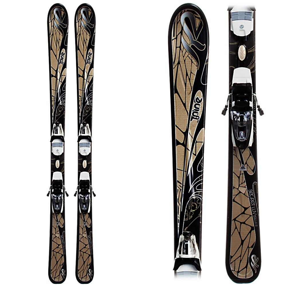 Ski K2 Secret Luv Womens Skis with ERP 10.0 Bindings - For the recreational skier looking to advance to the next level, the K2 Secret Luv is the ideal tool at an affordable price. The Secret Luv blends a 78mm waist and women's specific core to achieve a high level of ease and forgiveness and inspire confidence and control in the skier. The womens specific core is reserved for the K2 women's skis to offer a mellow enough flex for a woman yet is poppy enough to offer good edge to edge control while cornering. The Secret Luv comes with bindings by Marker which mount on a plate offering a truer flex throughout the whole ski, a really great feature for the beginner to the expert. The Secret Luv is the ski for the beginner or intermediate looking to step up to the next level of ski without breaking the bank. . Tip/Waist/Tail Widths: 119/78/105mm (@ 146cm), Actual Turn Radius @ Specified Length: 12m (@ 146cm), Warranty: One Year, Type: All-Mountain Skis (75-90), Gender: Womens, What Binding is Included?: ERP 10.0, Construction Type: Cap, Core Material: Composite, Base Material: Extruded, Tail Profile: Flared, Special Features: Lightweight and Forgiving, Special Features: Great Value, Bindings Included: Yes, Binding DIN: 3-10, Rocker: Tip Rocker/Camber, Binding Weight Range: 65-230 lbs., Race: No, Twin Tip: No, Alpine Touring: No, Used: No, Titanium: No, Turn Radius: 11-15, Waist Width: 76-85mm, Skill Range: Beginner - Advanced Intermediate, Model Year: 2011, Product ID: 228149, Shipping Restriction: This item is not available for shipme - $299.95