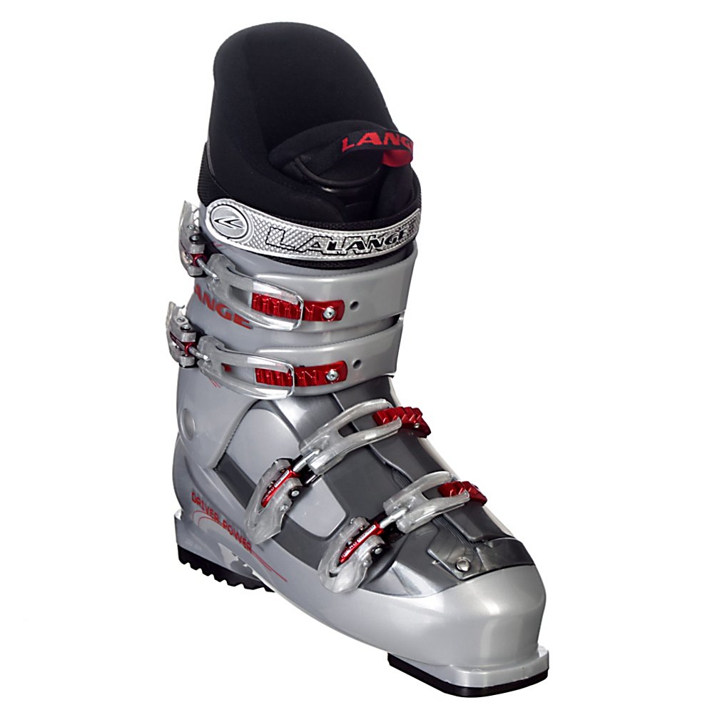 Ski Lange Concept Driver Power Ski Boots - The Lange Concept Driver Power men's all mountain ski boots will provide you with hours of fun on the slopes. The Driver Power boots are made to offer you incredible skiability without sacrificing comfort. They are a soft flex boot that will keep your feet comfortable and pain free even after hours of use. Various extra features such as a neoprene toe box, and bi-injected shell mean that you can really progress with these boots whether you're in your early weeks or you veteran years. . Lining Material: Custom Fit, Actual Flex: 65, Cuff Alignment: None, Warranty: One Year, Gender: Mens, Special Features: Easy Entry Design, Type of Boot: Recreational, Width: Medium (100-103mm), Shell Material: Polycarbonate, Buckle Count/Type/Material: 4/Micro Adjustable, Special Features: Lightweight Design, Flex: Soft, Race: No, Used: No, Ski/Walk: No, Prewired For Heat: No, Number of Micro Buckles: Four, Freestyle: No, Sidecountry: No, Forefoot Width: 103mm, Flex Adjustment: No, Buckle Count: 4, Buckle Material: Plastic w/ Metal, Category: Downhill, Skill Range: Beginner - Advanced Intermediate, Model Year: 2010, Product ID: 212208, Shipping Restriction: This item is not available for shipment outside of the United States. - $129.95