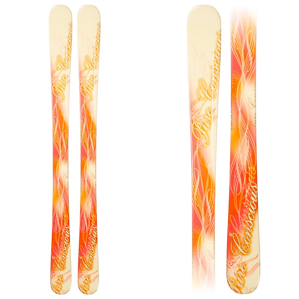 Ski LCV Pure Conscious Twin Pink Womens Skis - The LCV Pure Conscious Twin Pink Skis are a great beginner pair of sticks to help get you situated on the mountain. Whether you're just starting off or have been at it for a little while, you'll find that these skis will be great at increasing your skill level so that you can soon head up to more challenging terrain. Its twin tip design will make testing out some new tricks and riding switch a little easier, if you dare. Whether you're cruising on the groomed trails or heading into some powder, the LCV Pure Conscious Twin Pink Skis will help with progression and allow you to head to the mountain instead of having to wait in line to get rentals. . Warranty: One Year, Type: All-Mountain Skis (75-90), Gender: Womens, What Binding is Included?: N/A, Construction Type: Cap, Core Material: Composite, Base Material: Sintered, Tail Profile: Twin, Bindings Included: No, Binding DIN: N/A, Rocker: Camber, Binding Weight Range: N/A, Race: No, Twin Tip: Yes, Alpine Touring: No, Used: No, Titanium: No, Turn Radius: - $79.95
