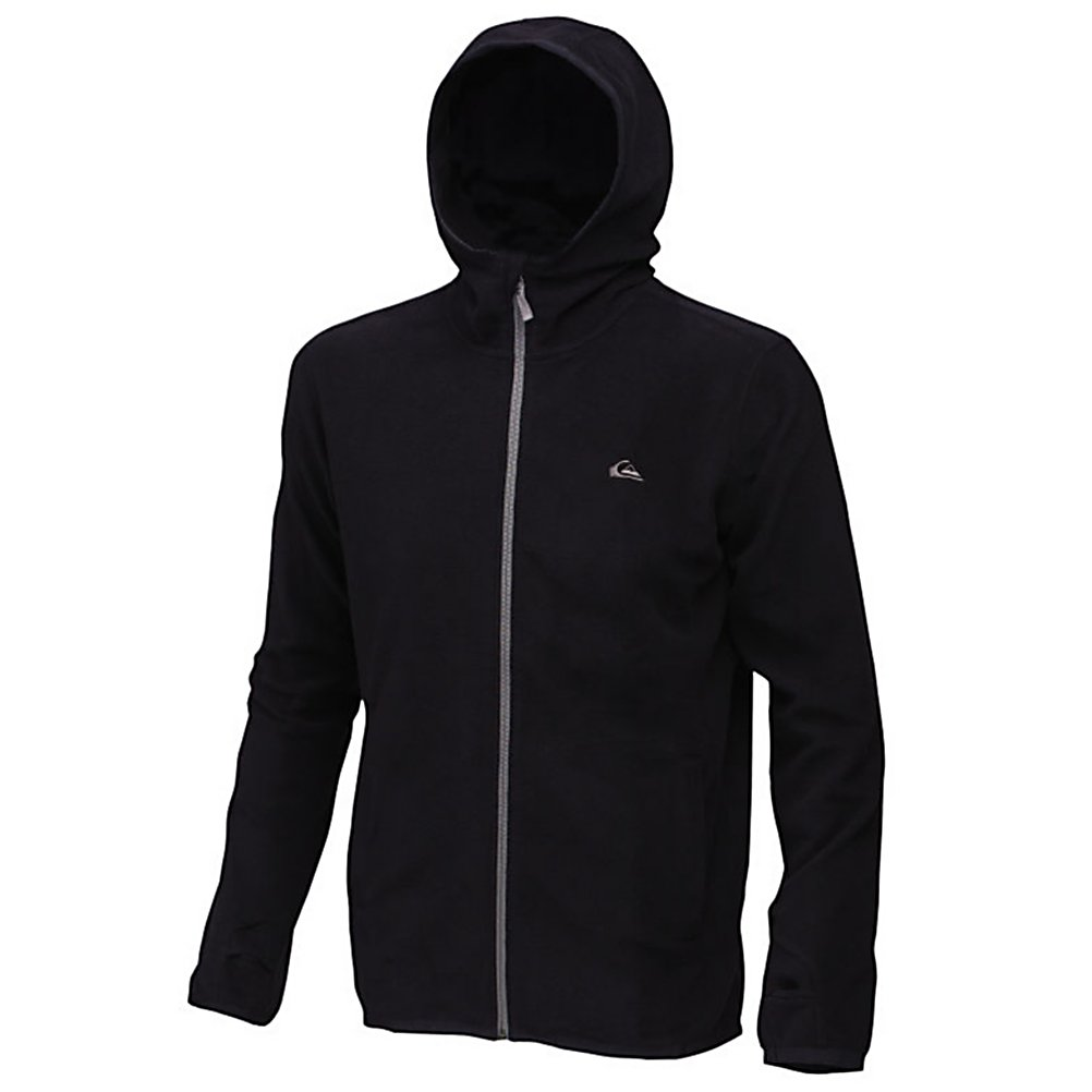 Ski Quiksilver Aker Fleece Hoodie - When temperatures drop, it can be super chilly on the mountain. The Quiksilver Aker Fleece hoodie is the perfect mid-layer for staying warm. Featuring 100% recycled polyester micro polar fleece to keep the body warm. Thumbholes prevent the hoodie from riding up on you as you cruise the mountain. The Aker Fleece is a one-stop shop for mid-layering, body warmth, and all around comfort. . Hood Type: Fixed, Material: Topgreen recycled yarn, Fleece Weight: Mid, Category: Mid-Weight, Hood: Yes, Warranty: One Year, Battery Heated: No, Closure Type: Full Zip Top, Wind Protection: No, Type: Hoodies, Material: Fleece, Pockets: 1-2, Wicking Properties: No, Sleeve Type: Long Sleeve, Water Resistant: No, Model Year: 2012, Product ID: 307305 - $39.99