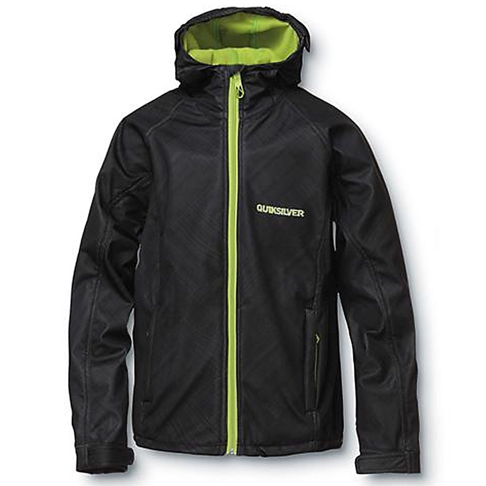 Ski Quiksilver Villa Rica Mens Soft Shell Jacket - Are you ready to stay warm on that extra cold day? The Quiksilver Villa Rica Soft Shell is a perfect mid-layer piece underneath your shell or you can rock it alone on the streets and in the spring. With DWR coating this jacket will repel moisture without it soaking through. Fleece back construction generates warmth for back so when sitting on a cold chairlift you'll barely notice a difference. The Quiksilver Villa Rica Soft Shell is going to be your new friend this winter. Features: Water-resistant. Exterior Material: Polyester, Softshell: Yes, Insulation Weight: N/A, Taped Seams: Critically Taped, Waterproof Rating: DWR Treated, Breathability Rating: N/A, Hood Type: Fixed, Pockets: 1-3, Bearing Grade: Performance, Hood: Yes, Warranty: Other, Battery Heated: No, Race: No, Type: Softshell, Cut: Slim, Length: Long, Insulation Type: Fleece, Waterproof: , Breathability: Not Specified, Waterproof Zippers: No, Wind Protection: Yes, Model Year: 2012, Product ID: 307324, Model Number: KKMSJ083-BLK L, GTIN: 0883356799268 - $59.99