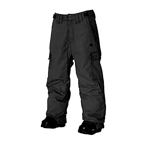 Snowboard Rip Curl Focker Mens Snowboard Pants - This pair of Focker Mens Snowboard pants designed by Rip Curl are the perfect choice for all of your winter activities. The perfect classic pair of pants suited for snowboarders needs. There are front snap closures with an adjustable waist for a custom fit each time that they are worn. The deep side cargo pockets and the front two zippered vertical pockets will keep all of your wanted items with you, safe and secure. The 100% polyamide material provides the protection from the cold temperatures, wind and moisture so you can stay in the park or in the pipe longer remaining comfortable and dry. Lined with 210T lining for warmth without the bulk is your ticket in remaining warm with a regulated temperature that is just right for you all winter long. So check out this pair of Rip Curl Focker Mens Snowboarding Pants and hit the slopes with style and protection over and over again. Features: 2 Front Zippered Pockets, 2 Snap Front Closure, Velcro and Belt Waist Adjustment. Exterior Material: Polyamide, Softshell: No, Insulation Weight: N/A, Taped Seams: Critically Taped, Waterproof Rating: 5,000mm, Breathability Rating: 5,000g, Thigh Zip Venting: No, Suspenders: None, Articulated Knee: Yes, Cargo Pockets: Yes, Warranty: One Year, Race: No, Waterproof: Moderately Waterproof (5000mm-19,999mm), Breathability: Moderate Breathability (4000g-8999g), Cut: Regular, Lining Material: 210T, Waist: Adjustable, Pockets: 3-4, Model Year: 2011, Product ID: 233594, Type: Insulated, Use: Snowboard, - $49.92