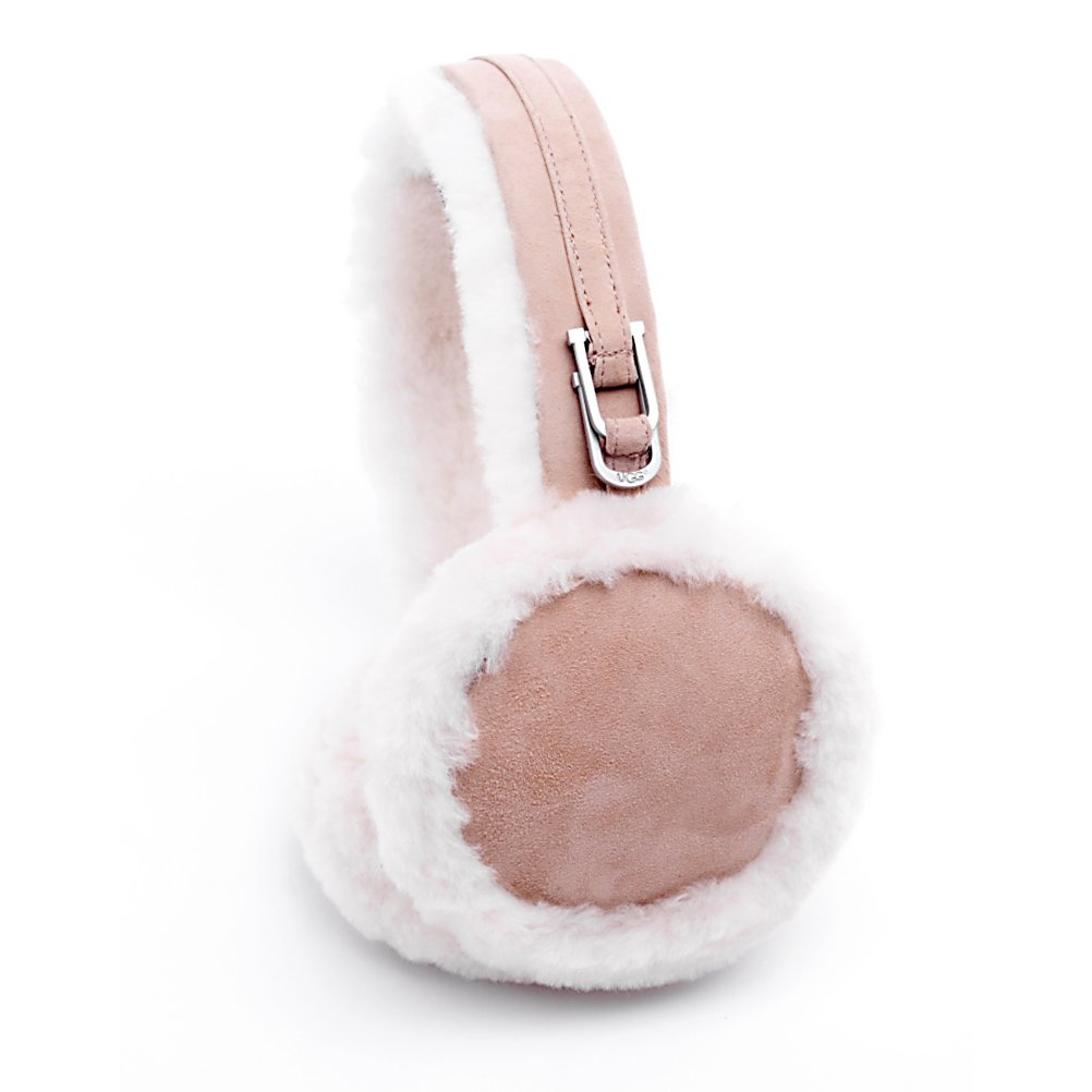 Ski UGG Australia Double U Logo Earmuffs Womens Hat - The Ugg Double U Earmuffs are a must-have to complete your winter ensemble. These shearling earmuffs use natural sheepskin to keep your ears exceptionally warm, and double U logo buckles on the side add a polished, high-end accent. The Double U Logo earmuffs by UGG Australia are original with design - completing every look. Ultra-comfy and warm, you'll be prepared to take winter head on - or in this case, with the Ugg Double U Logo Earmuffs on. . Warranty: One Year, Battery Heated: No, Material: Shearling Sheepskin, Lined: No, Type: Earmuffs, Model Year: 2013, Product ID: 144421 - $85.00