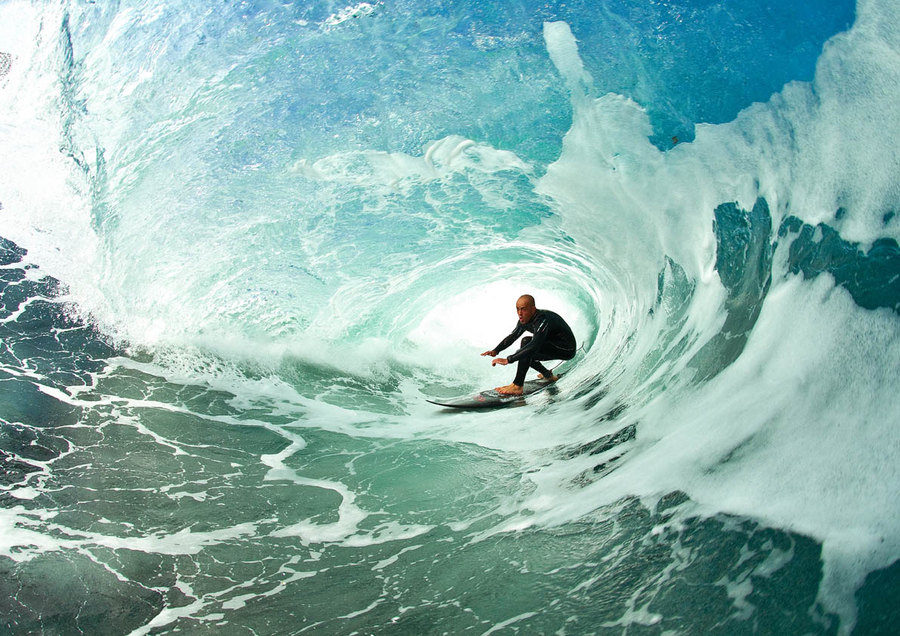 Surf Surfer Ian Battrick Pitted in Scotland