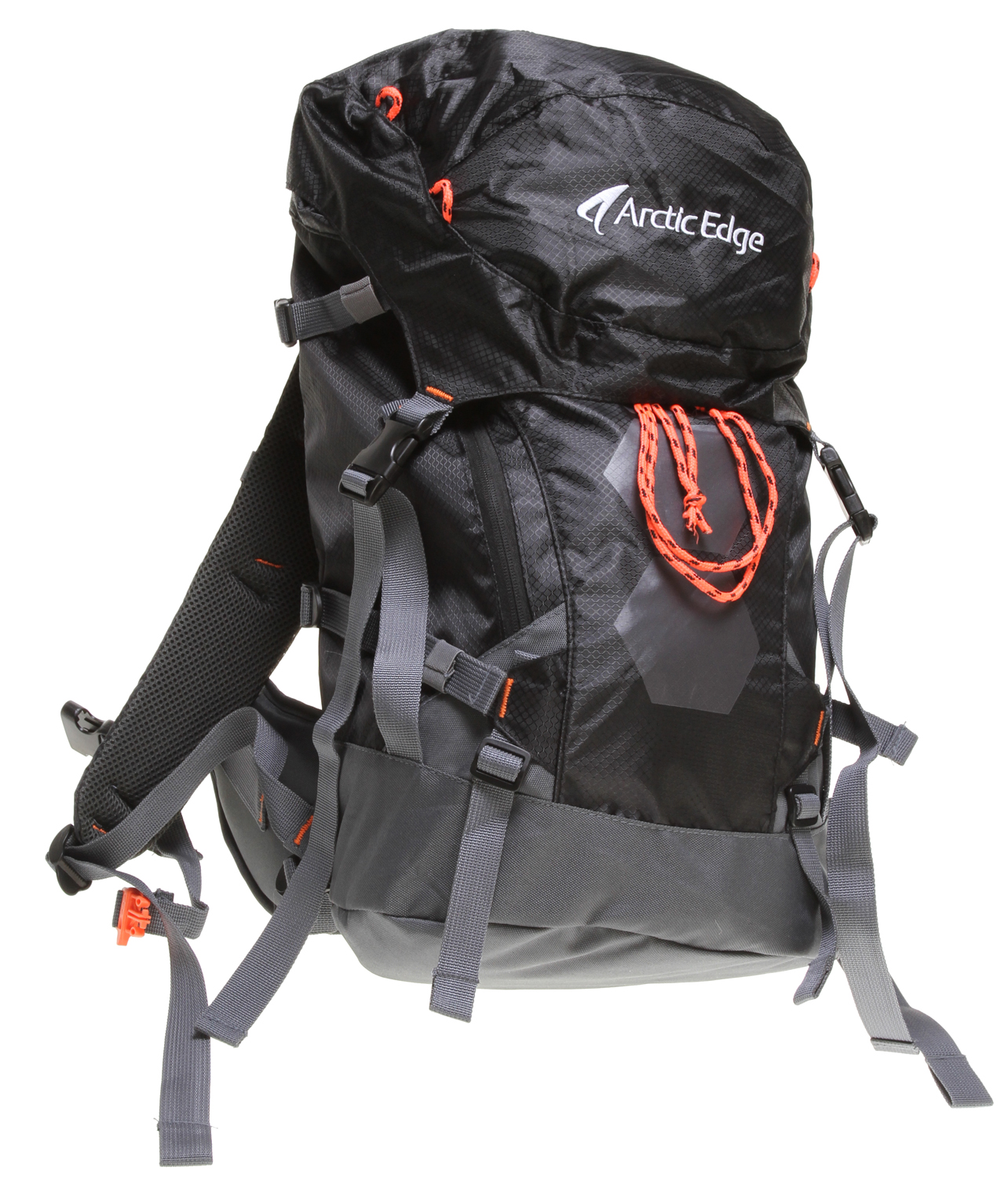 Ski Advanced ski backpackKey Features of the Arctic Edge Le Tour 35L Backpack: 2 external snow tool/shovel holder Padded backside Aluminum rail Ergonomic straps and hip-belt Height adjustable chest strap Vertical ski/snowboard carry system Top opening for hydro system Load compression straps - $47.95