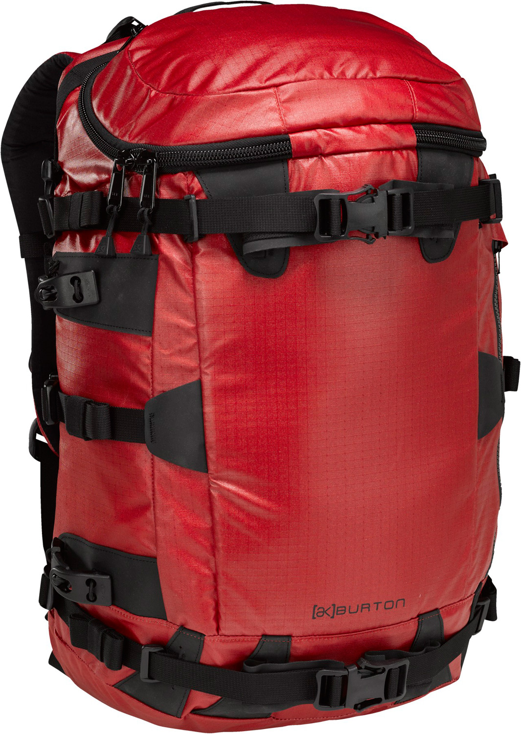 Climbing Guide-grade performance for serious Bc missions. Designed for reduced weight and reliability on the approach, with a wet/dry pocket for stashing climbing skins on the ride down.Key Features of the Burton AK 31L Backpack: Fabrication: 420D n66 nylon cordura with Two-Sided PU coating and 210D nylon Ripstop Lining oversized Pail Lid Main Entry with Fleece-Lined accessory Pocket cush Ergonomic Shoulder Harness Low-Profile Sled-Ready Horizontal Board carry Vertical Board carry and Triple- Strap Pack compression System External Pole Storage Front Storage Pocket for climbing Skins Easy access Internal Shovel and Probe Storage Pocket Fleece-Lined Goggle / accessory Pocket Hydration compatible Padded waist Strap [23in x 10in x 9in] [58cm x 25cm x 22cm] 31L - $101.95