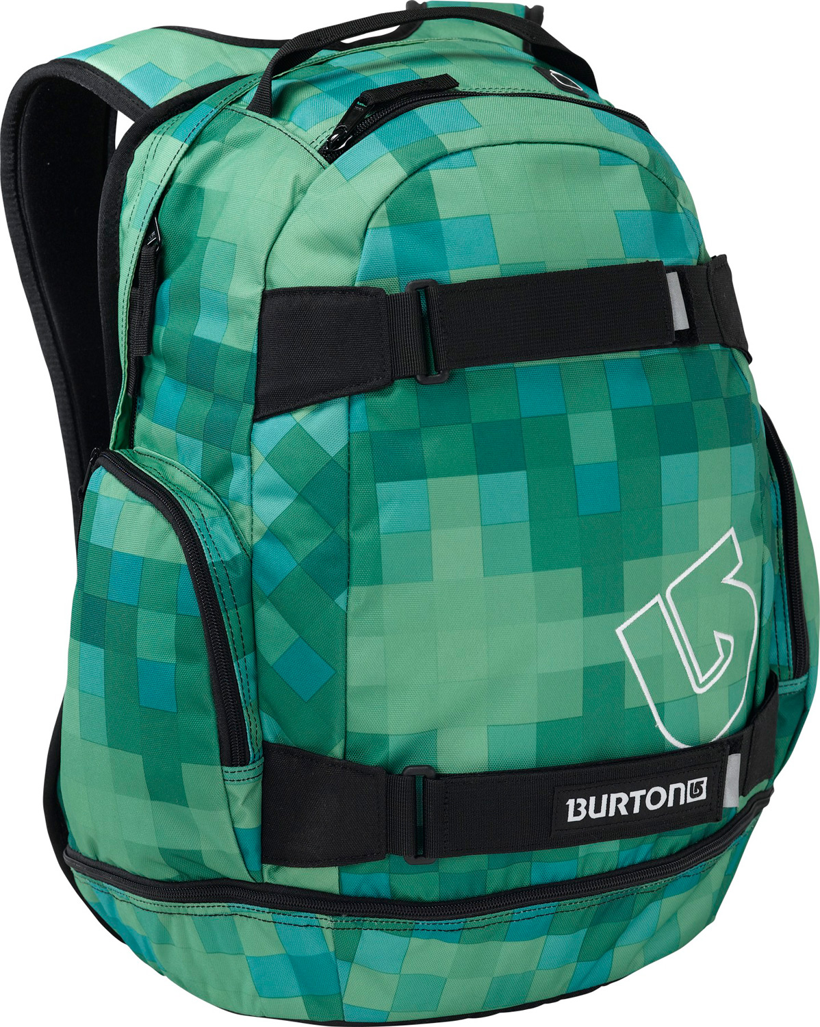 Snowboard Your buddies will be tripping when you roll up dispensing cold ones from your Burton Metalhead Pack. With pockets for laptop and music, as well as straps for your skate and a built-in cooler compartment, this is the ultimate pack for laid-back afternoons at the spot.Key Features of the Burton Metalhead Backpack: Vertical skate carry Padded laptop pocket Fleece lined sound pocket with headphone cable port 28L [19in x 12in x 8in] [48.5cm x 30.5cm x 20.5cm] 600D Polyester 300D Polyester Dobby Separate Cooler Compartment Cush Ergonomic Shoulder Harness 1.5 lbs [0.68 kg] - $31.95