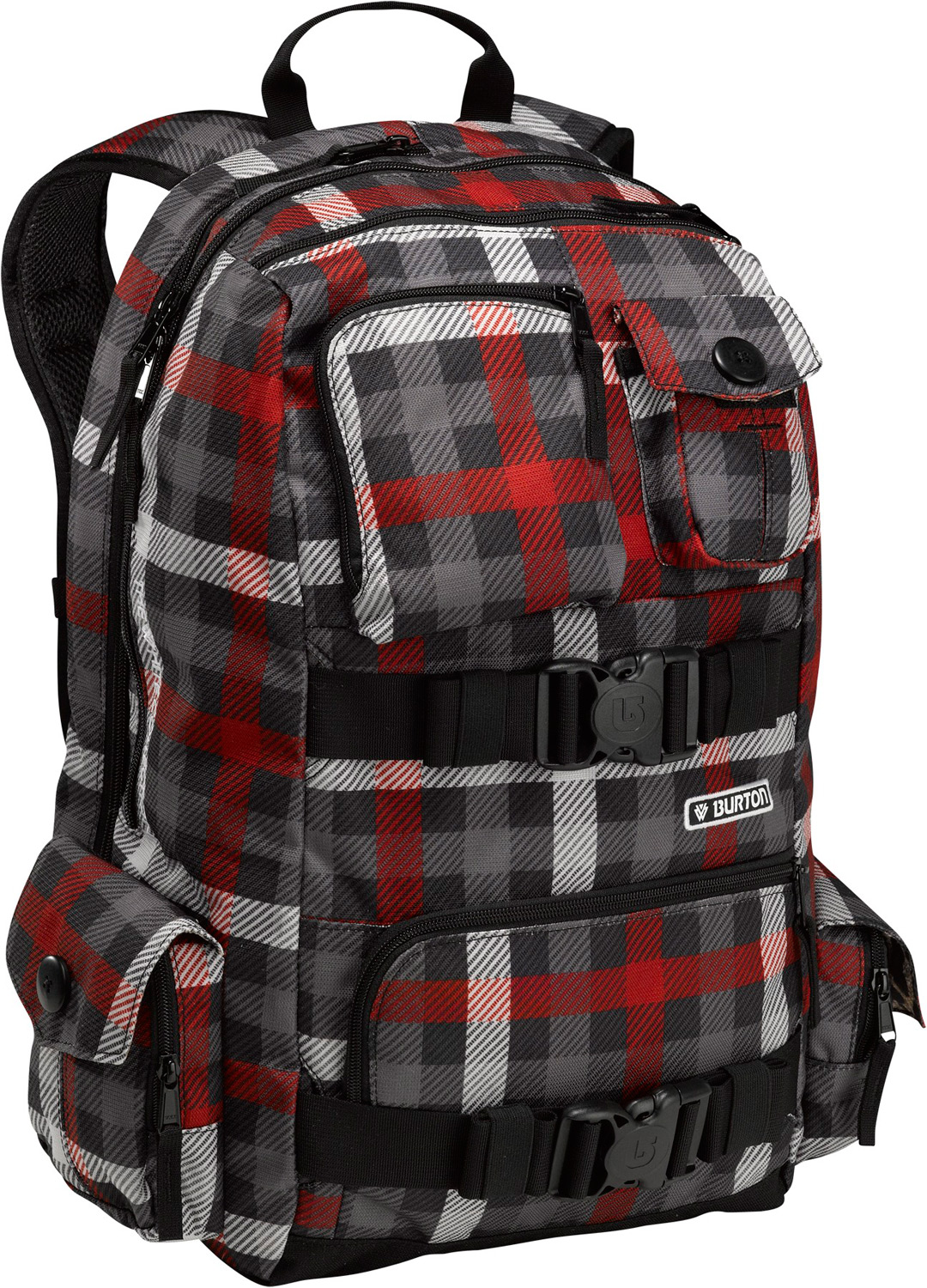 "Snowboard Shaun White has flown all around the globe for a decade plus now, and he's learned what goes into a good backpack. His signature White Collection Pack crams all his favorite features into a mega-versatile design that's just as good for taking to school as it is for hopping hemispheres a few times a year.Key Features of the Burton Shaun White SS Backpack: Spacious main compartment can hold all the essentials for a day with the crew or a chill day on campus. Padded laptop sleeve with an easy to access side entry. Dimensions: 15"" x 11"" x 2"". Extra front storage compartment allows for easy access to the necessities. Two extra side compartments for added storage options. Oversized studio headphone storage pocket. Capacity: 26L - $62.95"