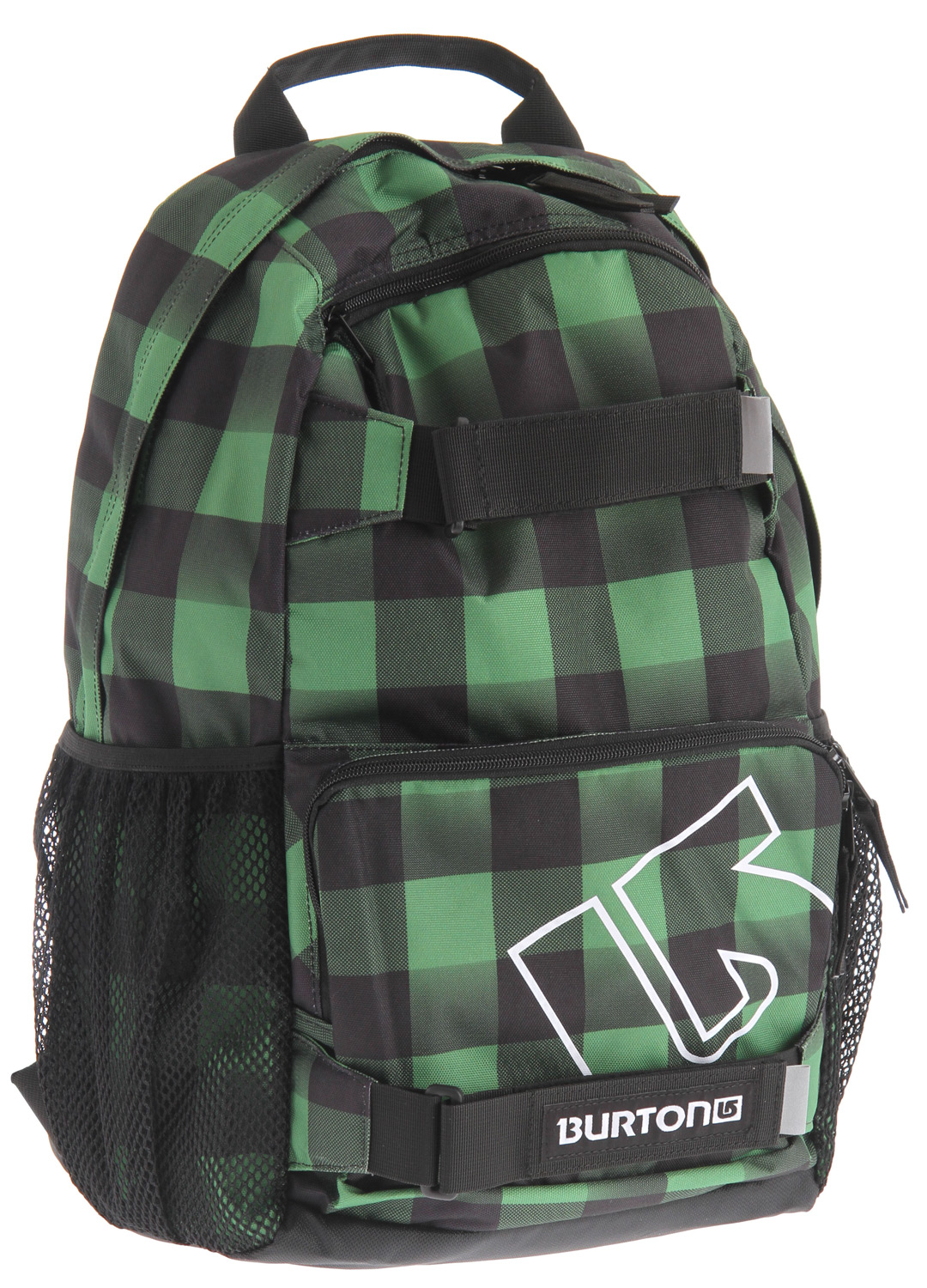 Snowboard Simple skate pack with added bang for your buck.Key Features of the Burton Treble Yell Backpack: Volume: 21L Weight: 1.5 lbs./0.7kg Dimensions: 18.5x12x7 in/47x31x17 cm Fabrication: 300D Polyester Dobby/600D Polyester Cush Ergonomic Shoulder Harness Vertical Skate Carry Magazine/Laptop Sleeve Mesh Water Bottle Pockets - $24.95
