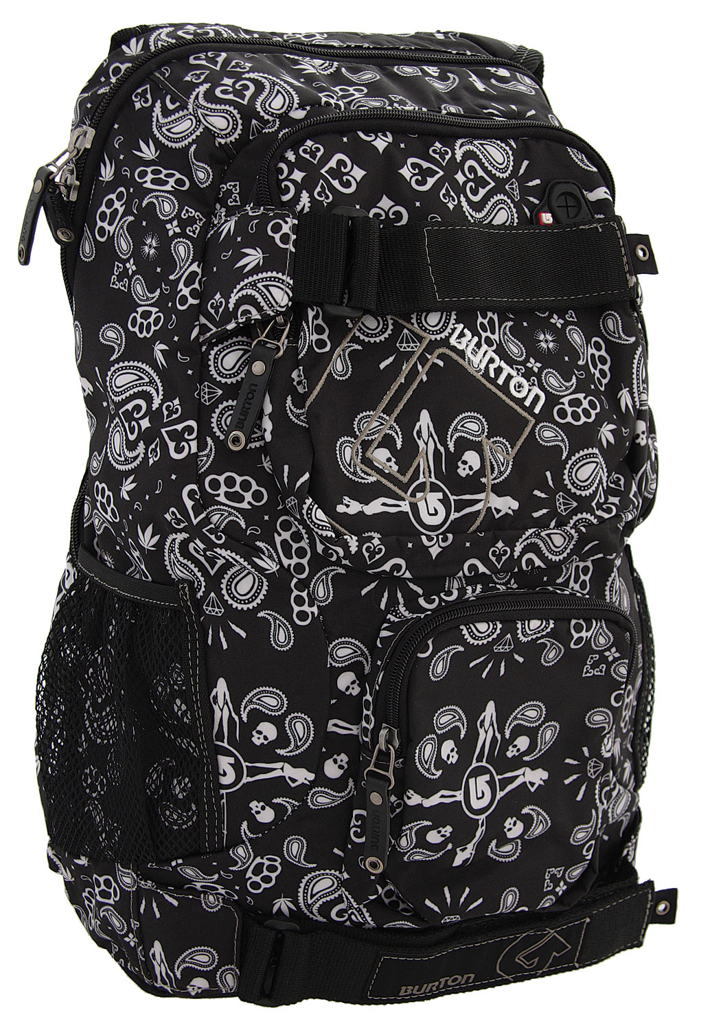 Snowboard If you''re looking for a slick design and varied patterns on your backpack, then the Burton Treble Yell Backpack is up your prairie. With a Saharan desert contrast, this backpack is made for people who enjoy the outdoors. It features interconnected head phone options and a comfortable weight distribution design, which takes out the ache of long term wear. For school kids on the go, it even offers room for a laptop, among other things; making this a good all-around backpack to have at your disposal.Key Features of the Burton Treble Yell Backpack:  17L [17in x 12in x 8in] [43cm x 30cm x 21cm]  Laptop Pocket [Fits Most 12 in. Laptops]  Vertical Skate Carry   Cush Ergonomic Shoulder Harness   Sound Pocket with Headphone Cable Port - $19.95