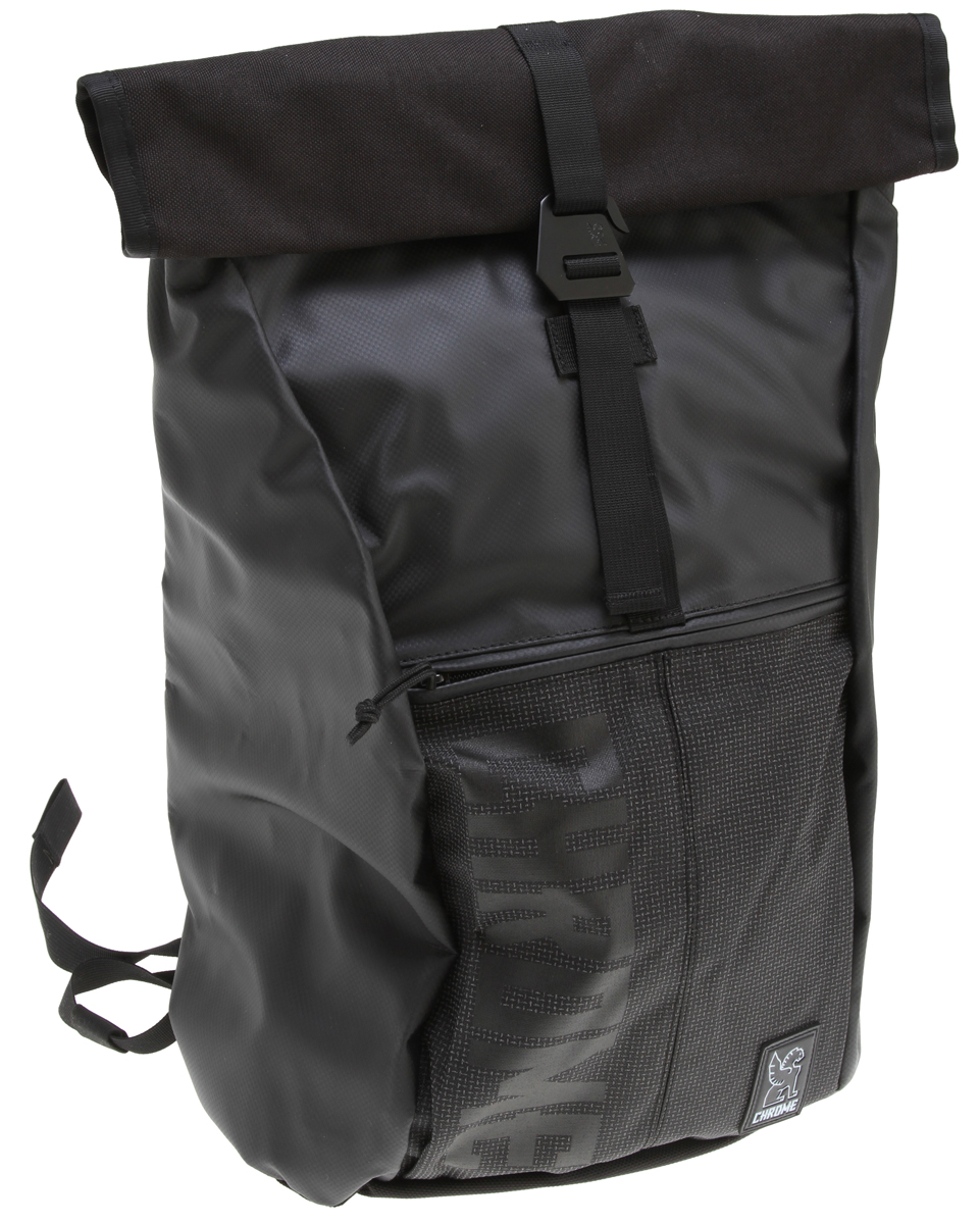 "MTB Weatherproof Assault rolltop backpack with side access laptop compartment. Guaranteed for life.Key Features of the Chrome Yalta Backpack:  Weatherproof rolltop main compartment with adjustable stainless steel closure accommodates a range of load sizes  Side access zippered compartment with built-in laptop sleeve fits 13-14"" laptops (padded sleeve recommended   Zippered external front pocket  Daisy chain mounting loops for attaching carabiner clips or bike lights  Industrial strength Velcro accessory shoulder mounting straps  Ergonomic shoulder strap design with EVA foam back panel for improved fit and breathability  Sternum strap for load distribution  Industrial metal cam lock under arm compression buckles  Weatherproof 1000 denier truck tarpaulin outer shell  Weatherproof independently suspended military grade 18 oz. truck tarpaulin liner with bar welded seams  Nylon 69 thread and YKK zippers  Dimensions: 14"" wide, 21"" high, 6"" deep  Volume: 29 L  Weight: 3.4 lb.  Built in: Guangzhou, China - $104.95"