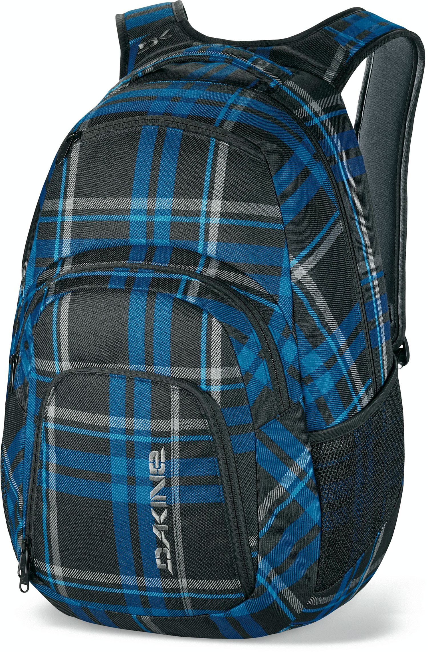 "Surf The ultimate in organization. Specific pockets for your laptop, electronics and music, the Campus keeps your essentials easily accessible and well protected.Key Features of the Dakine Campus 33L Backpack: 2000 cu. in. [ 33L ] 20 x 13 x 9"" [ 51 x 33 x 23cm ] 600D Polyester 420D Nylon Dobby ( Black ) Padded sleeve fits most 15"" laptops Insulated cooler pocket Organizer pocket Fleece lined sunglass pocket Mesh side pockets - $38.95"