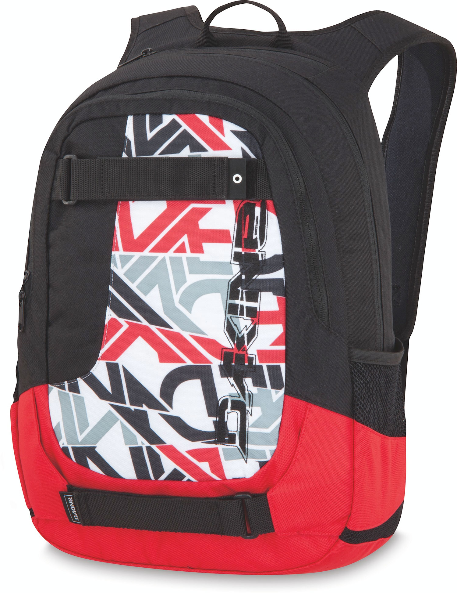 "Surf Key Features of the Dakine Division 27L Backpack: 1650 cu. in. [ 27L ] 19 x 13 x 7"" [ 49 x 33 x 18cm ] 600D Polyester Padded sleeve fits most 15"" laptops Heavy duty skate carry straps Organizer pocket Fleece lined sunglass pocket Mesh side pockets - $37.95"