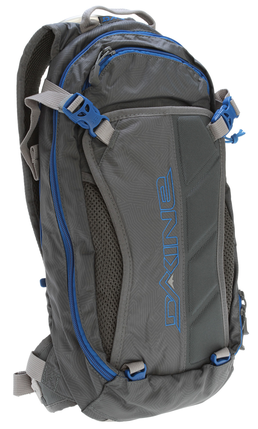 "Surf Key Features of the Dakine Drafter Hydrator Pack 12L: 100oz / 3L reservoir with Quick Disconnect hose Molded back panel with Air Channel Ventilation Full face or XC helmet carry Armor carry straps Padded MP3 pocket Internal organizer pockets Fleece sunglass pocket Tube/pump sleeves Removable waist belt Volume: 700 cu. in. [ 12L ] Size: 18 x 7.5 x 5"" [ 46 x 19 x 13cm ] Weight: 1.4 lbs [ .6 kg ] Materials: 630D Nylon, 1260D Ballistic Nylon - $59.95"