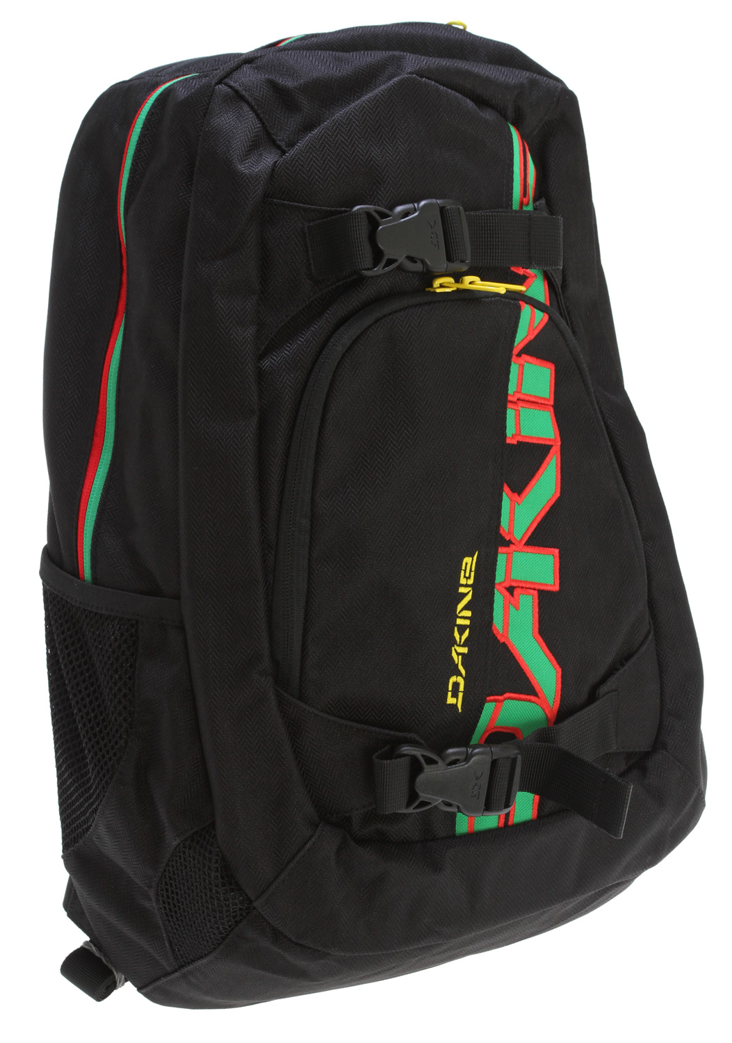 "Surf Key Features of the Dakine Explorer Backpack: Padded sleeve fits most 15"" laptops Skate carry straps MP3/fleece sunglass pockets Organizer pocket Mesh side pockets Volume: 1600 cu. in. [ 26 L ] Size: 20 x 12 x 10"" [ 50 x 30 x 25cm ] 600D Polyester - $31.96"