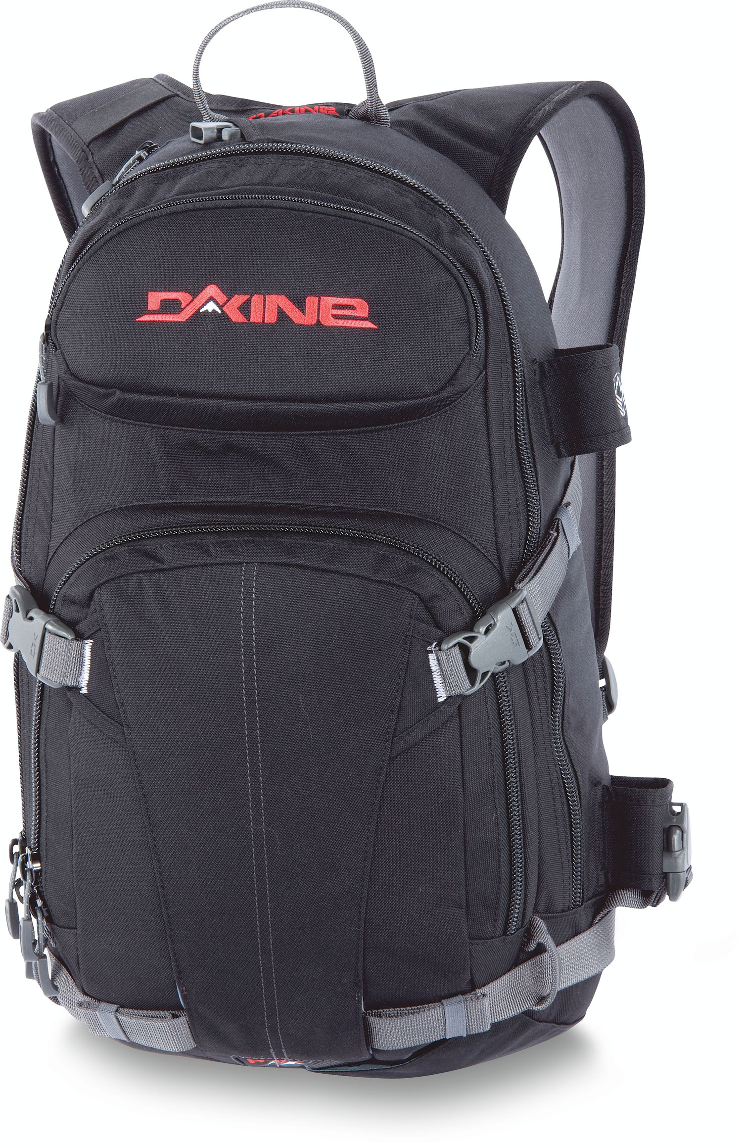 "Ski Key Features of the Dakine Heli Pro 20L Backpack: 1200 cu. in. [ 20L ] 21 x 11 x 5.5"" [ 53 x 28 x 14cm ] 2 lbs. [ .9kg ] 600D Polyester Vertical snowboard carry Diagonal ski carry Fleece lined goggle pocket Hydration compatible Non-padded sleeve fits most 15"" laptops Organizer pocket Padded waist belt - $85.00"