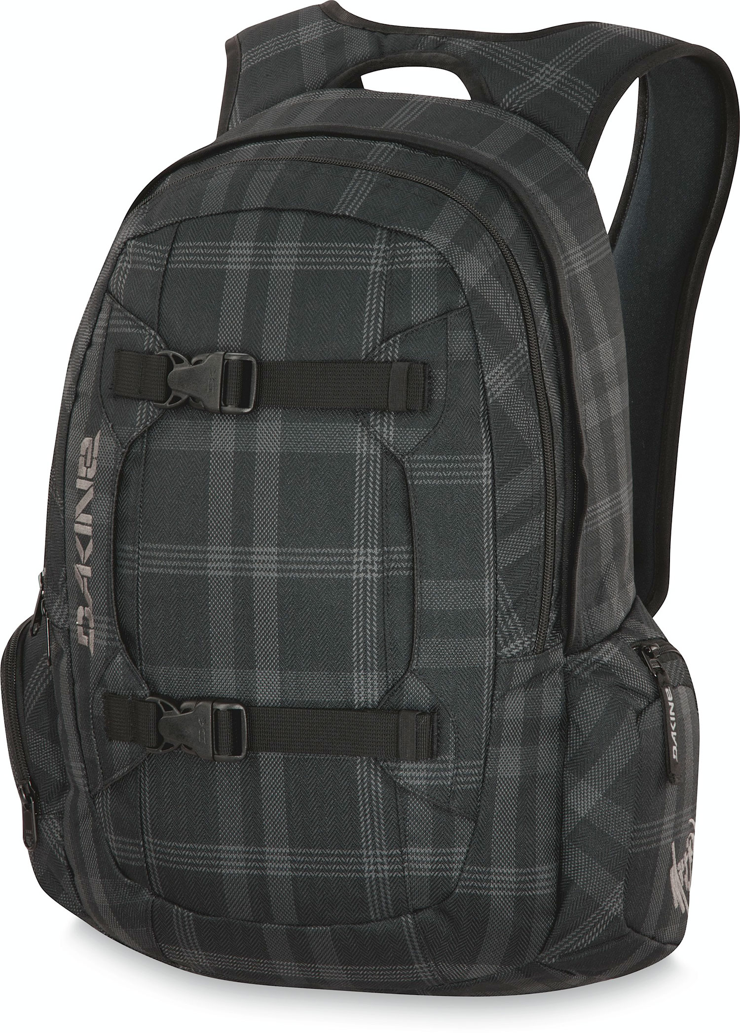 "Surf Key Features of the Dakine Mission 25L Backpack: 1500 cu. in. [ 25L ] 21 x 11 x 8"" [ 53 x 28 x 20cm ] 2 lbs. [ .9kg ] 600D Polyester Padded laptop sleeve Fits most 15"" laptops Vertical board carry straps Organizer pocket Plush lined sunglass pocket Plush lined goggle pocket Padded waist belt - $48.95"
