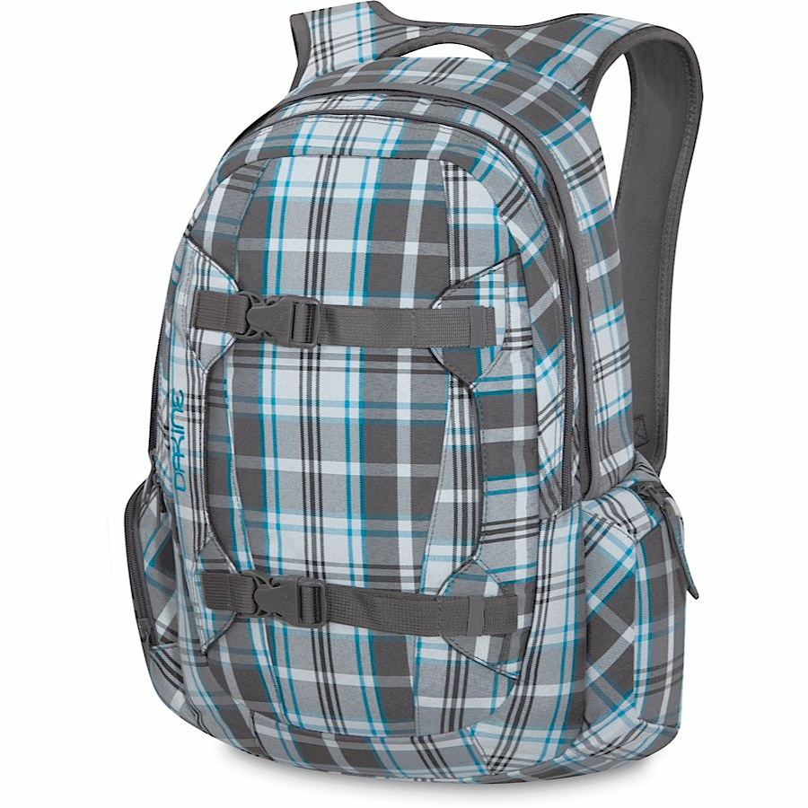 "Surf Key Features of the Dakine Mission 25L Backpack: 1500 cu. in. [ 25L ] 21 x 11 x 8"" [ 53 x 28 x 20cm ] 2 lbs. [ .9kg ] 600D Polyester Padded laptop sleeve Fits most 15"" laptops Vertical board carry straps Organizer pocket Plush lined sunglass pocket Plush lined goggle pocket Padded waist belt - $44.95"