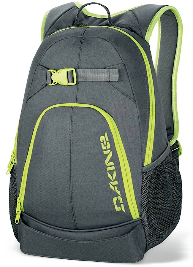 "Surf Key Features of the Dakine Pivot 21L Backpack: Quick load skate carry Organizer pocket Mesh side pockets Volume: 1300 cu.in. [ 21L ] Size: 18 x 12 x 6"" [ 46 x 30 x 15cm ] Materials: 600D Polyester - $27.95"