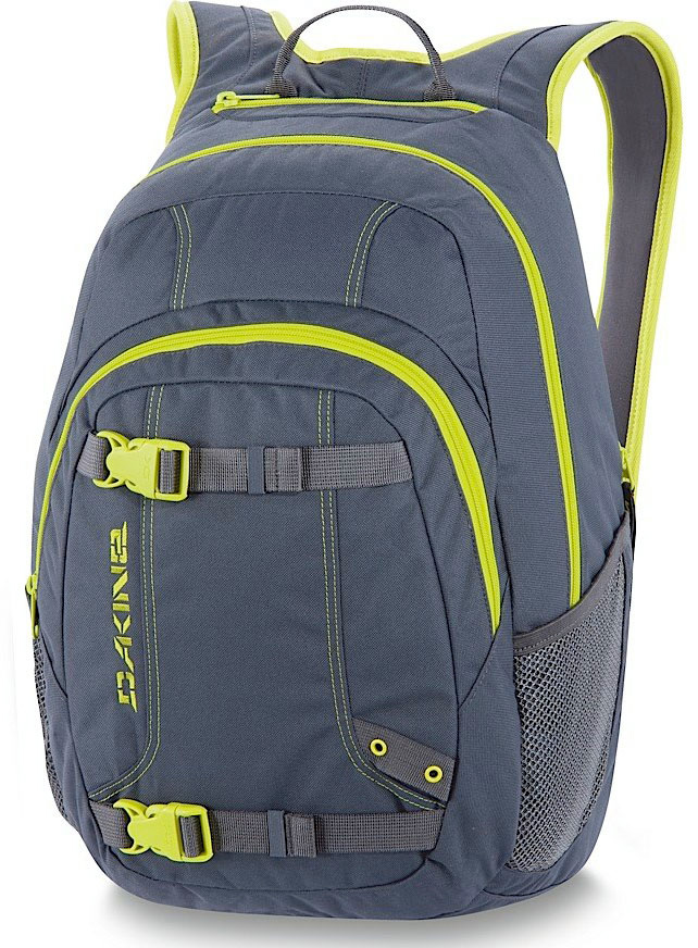 "Surf Key Features of the Dakine Point Wet/Dry 29L Backpack: Waterproof wetsuit pocket Skate carry straps Organizer pocket Fleece lined sunglass pocket Mesh side pockets Volume: 1800 cu. in. [ 29L ] Size: 19 x 12 x 9"" [ 42 x 30 x 23cm ] Materials: Planet friendly 100% PVC free: 600D Polyester or 600D Polyester 100% Recycled PET (Fremont print) - $37.95"