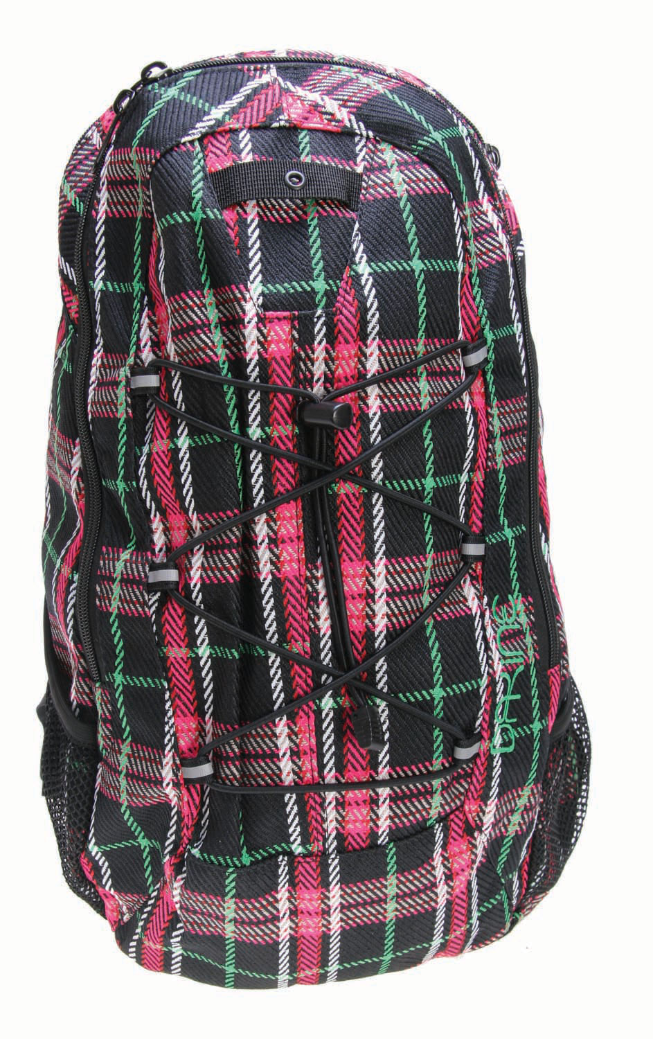 "Entertainment The Dakine Transit Pack brings together the function and style that every girl is looking for. This is a medium sized obag that's great for carrying school books or your gear. You have pockets for your sunglasses and water bottles, a bungee strap for that extra layer, and reflective webbing for after dark. With the quality and features that the Dakine Transit Pack offers it's no surprise that this is the bag of choice.Key Features of The Dakine Transit Pack: 1100 cu in [18L] 18 x 12 x 6"" Zippered Sunglass Pocket Mesh Side Pocket Reflective Webbing Bungee Storage - $17.95"