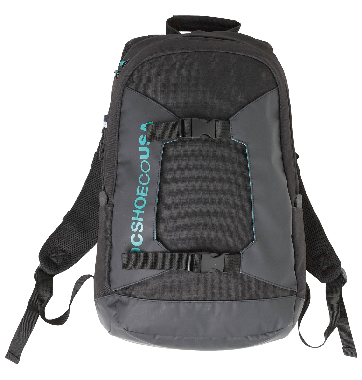 The DC Sender Backpack is great for daily use, school or outdoor adventures. This light weight, heavy duty backpack is made of a 600d polyester shell and a durable 210d polyester inner lining. Ergonomic shoulder straps, molded back panel and waist belt provide comfort, no matter where your adventures take you. The 23.3 liter DC Sender is hydration pack compatible and features handy side slip pockets, a removable key ring and an interior goggle pocket. Perfect for the trail, hiking or skiing.Key Features of the DC Sender Backpack:  600d polyester shell fabric  210d polyester interior fabric  Ergonomic molded back panel  Vertical board carry system  Internal hydration pocket  Cohart  Interior goggle pocket   Padded kidney straps  Side slip pockets  Removable key ring   Liter - 23.3l  Riding pack - $36.95