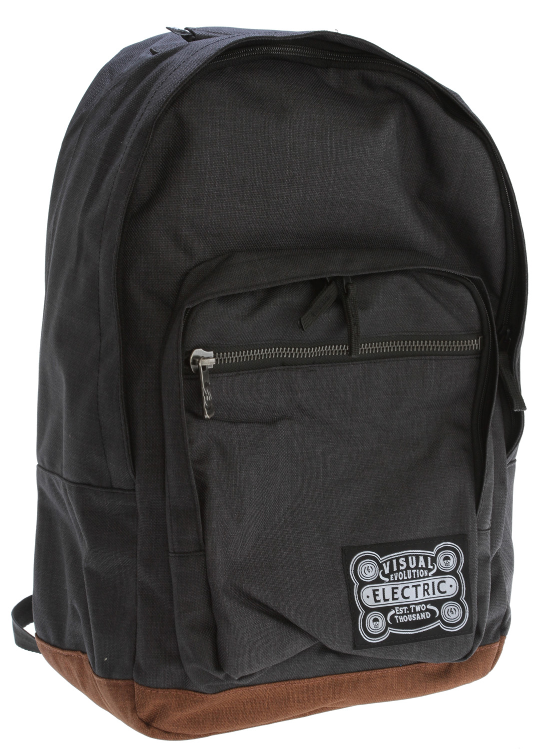 "Key Features of the Electric Everyday Backpack Black: Everyday Backpack Custom Retro Fabric Zipper Main Compartment With Storm Flap Front Pocket With Storm Flap Metal Zipper Front Pocket Padded Handle Interior Padded Laptop Sleeve 75% Polyester 25% Cotton Dimensions: 17.5"" X 11.5"" X 7.5"" - $30.95"