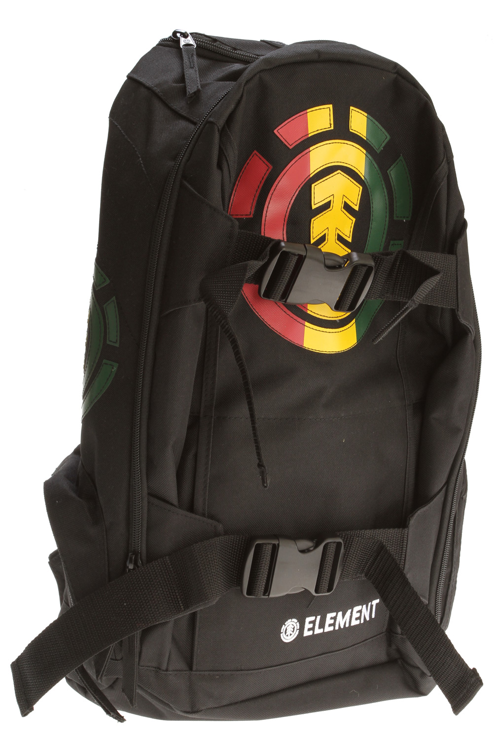 "Skateboard Key Features of the Element Mohave Backpack: 600D polyester printed backpack with skatestraps Music holder Front logo applique Side pockets 11"" w x 19"" h x 9"" d - $31.95"