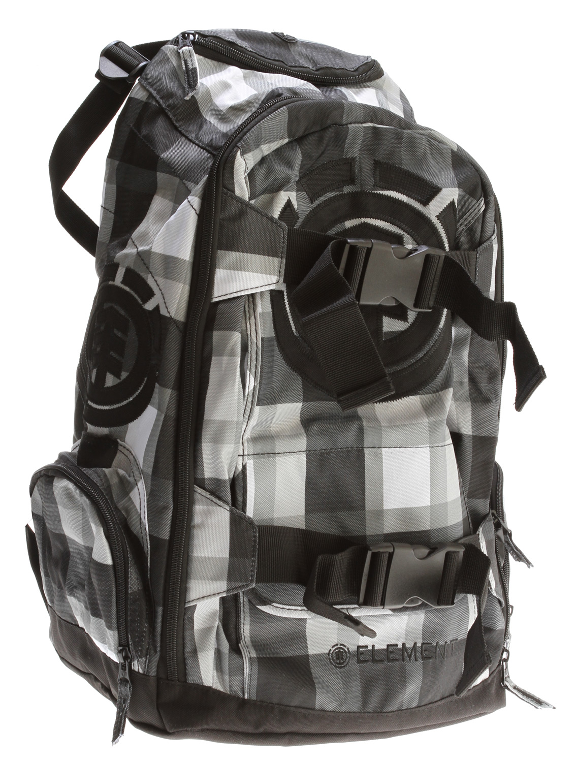 "Skateboard Key Features of the Element Mohave Woodranch Backpack: 600D polyester printed backpack with skatestraps Music holder Front logo applique Side pockets 11"" w x 19"" h x 9"" d - $49.50"