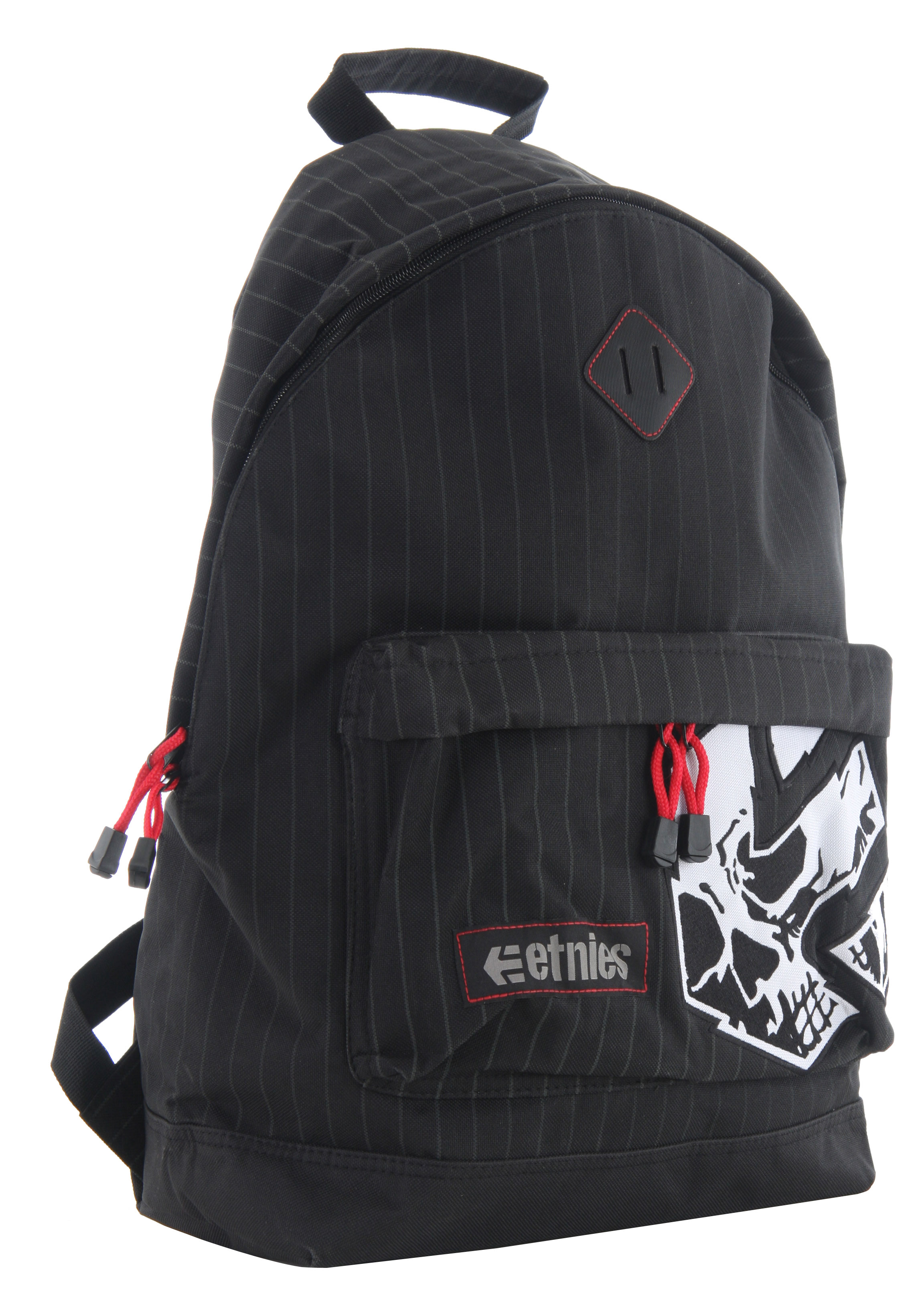 Skateboard If your somebody who thinks backpacks aren't cool, take a look at this one, please! This Etnies Essential backpack will not only keep your belonging secure, but this bag is also hip to carry. Made out of 100% polyester, this 600D basic backpack will be given compliments on many of times. Main compartment has the woven label and has a fashionable embroidered screen-printed artwork.Key Features of the Etnies Essential Backpack: 100% polyester 600D basic backpack Main compartment Woven label Embroidered screen-printed artwork - $22.95