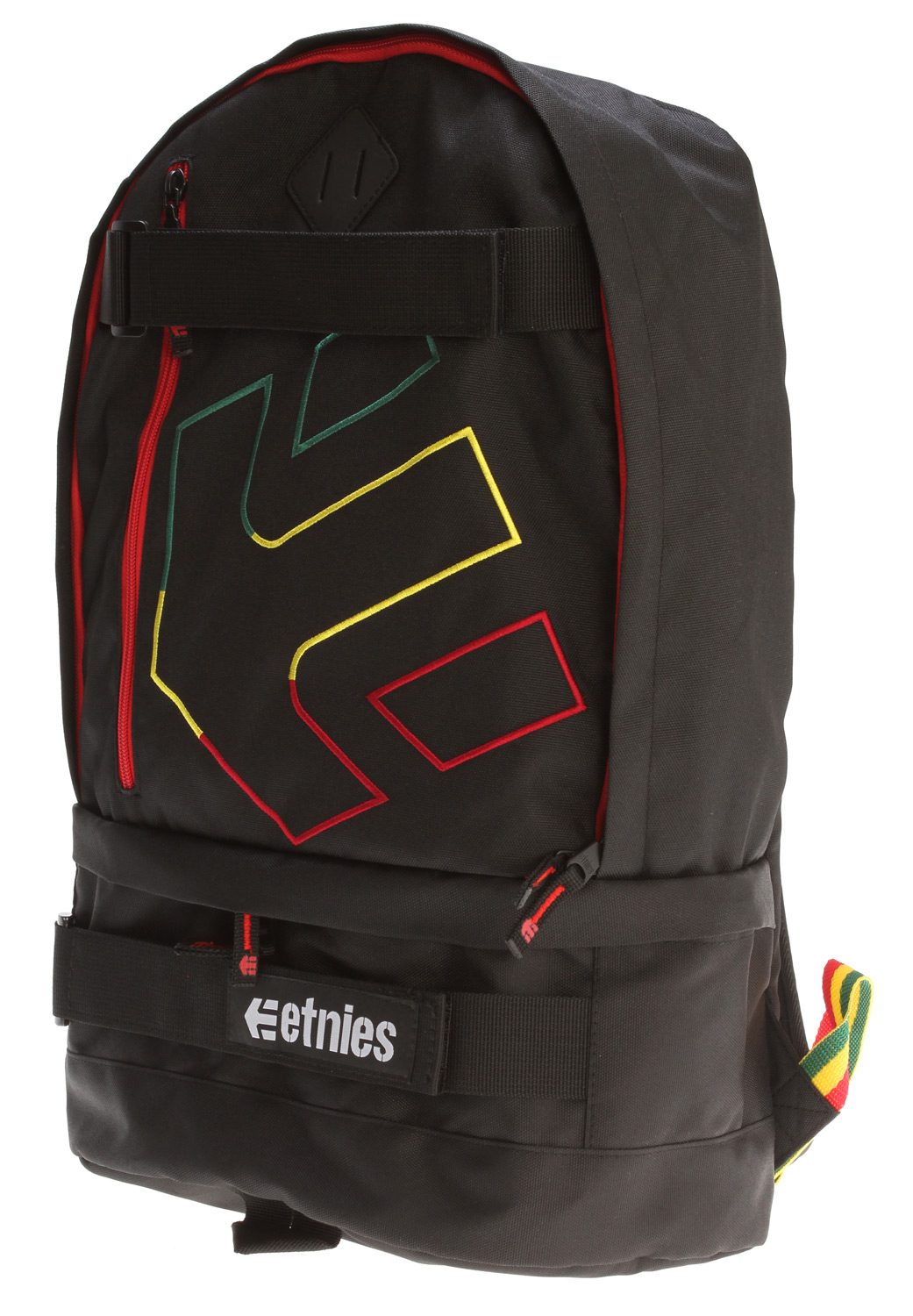 "Skateboard Key Features of the Etnies Transport Backpack: 4200 backpack with skate straps Shoe pocket and iPod pocket Embroidered artwork 10"" x 10.5"" x 6.5"" 1,150 cu in. - $33.95"