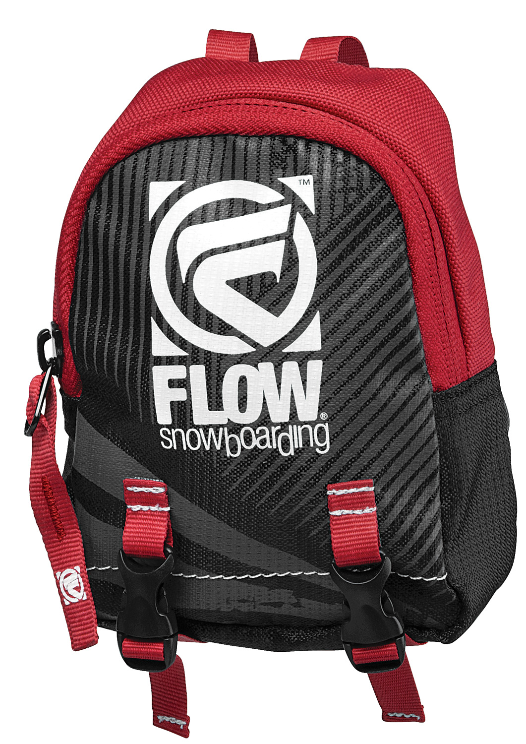 "Snowboard Key Features of the Flow Strap Stash Hi-Back Pack: Mini backpack for your snowboard binding's hi-back! 450D Polyester Release buckle straps Zippered ""Stash"" pocket - $8.99"