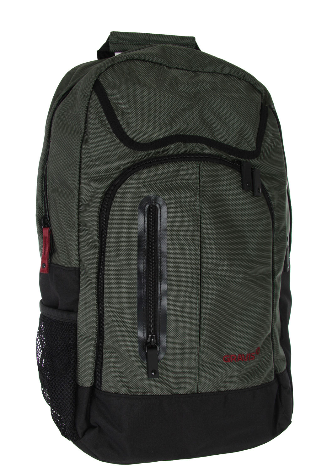Key Features of the Gravis Sureshot Backpack: Padded internal laptop compartment Hidden side zipper stash pocket Front zipper stash pockets Volume: 21L Dimensions: 51x33x18cm - $38.95