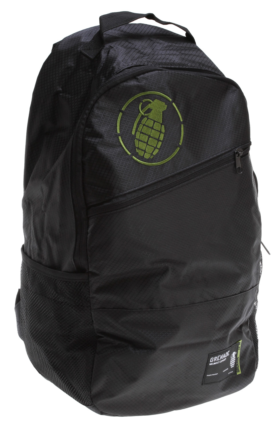The Grenade The Steele Backpack really has your back. This bag will work for you whether you're out on a camping trip or want to use the backpack for school. Either way, it should be able to meet your needs. There's a spot for a water bottle so say good bye to fumbling around for a spot to put it! Also your laptop and devices will be protected or your head when you want to use it as a pillow or a bus or in the corner somewhere because it has a padded back.Key Features of the Grenade The Steele Backpack : Internal multi-purpose pockets External water bottle pocket Waterproof fabric Padded back - $23.95