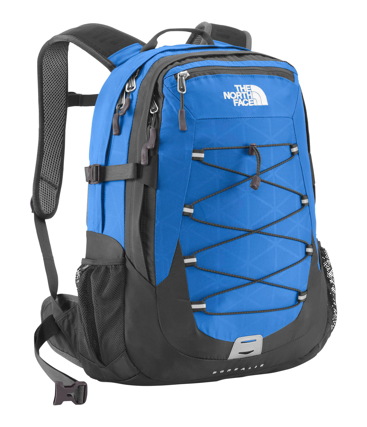 Key Features of The North Face Borealis Backpack: Avg Weight: 2 lbs 9 oz (1166 g) 6/25/12-7/15/12 Volume: 1770 in3 (29 liters) Fabric: 420D nylon, 600D polyester print, 1680D ballistics nylon FlexVent injection-molded shoulder straps with additional PE foam for added comfort Comfortable, padded Airmesh back panel with Spine Channel and PE sheet for extra back support Integrated reflective light loop Winged, stowable hipbelt Large main compartment with variable-sized laptop sleeve, organization and hydration port Secondary compartment with organization Front stash pocket Mesh side water bottle pockets - $89.00
