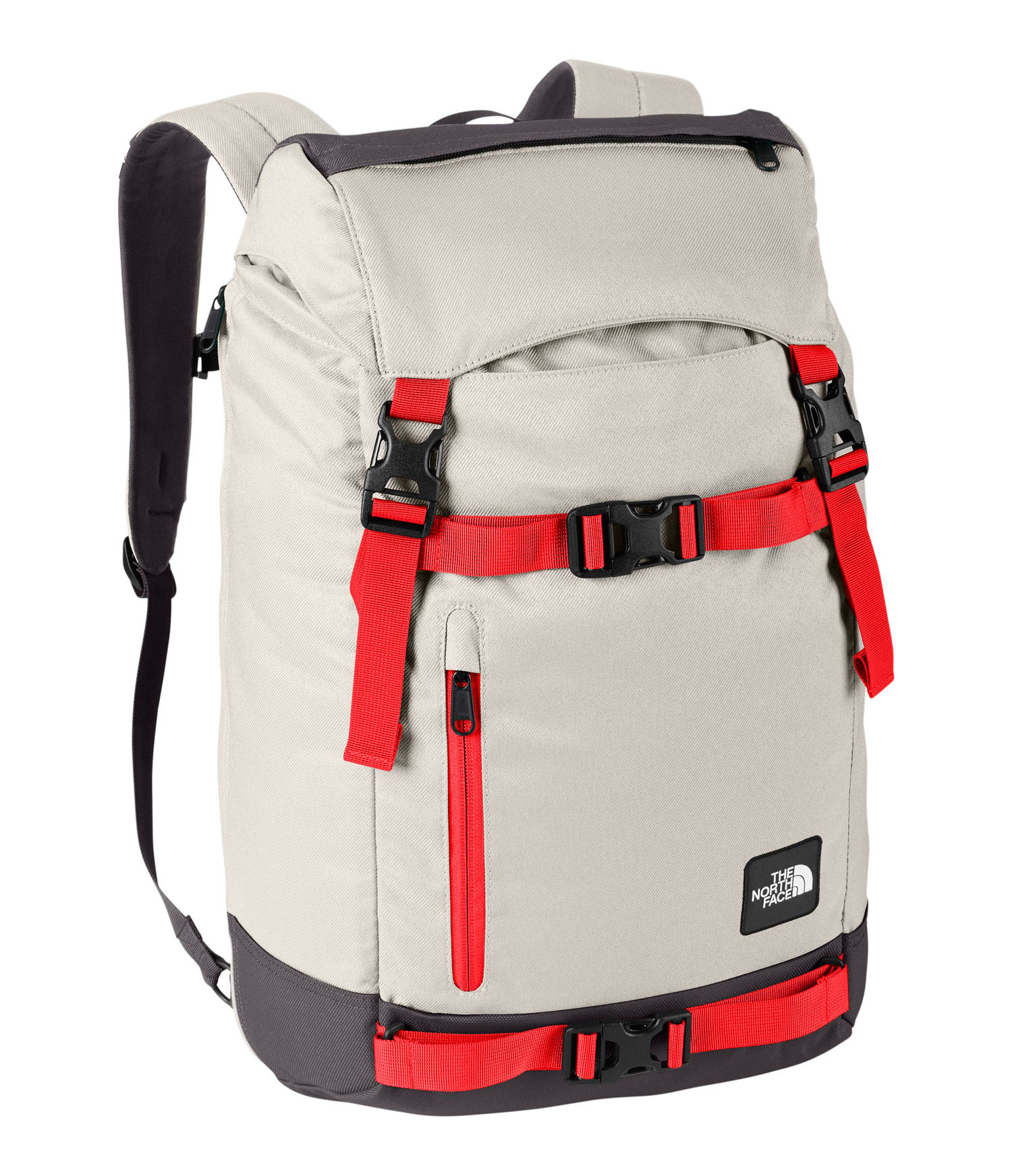 Spacious rucksack that's ready to rally anytime, anywhere. Key Features of The North Face Pre-Hab Backpack: Avg Weight: 2 lbs 5 oz (1050 g) Volume: 1710 in3 (28 liters) Fabric: black: 630D ballistics nylon, 1200D polyester colors: 600D polyester print, 1200D polyester Spacious rucksack that's ready to rally anytime, anywhere. FlexVent injection-molded shoulder straps Comfortable, padded Airmesh back panel Zippered, dedicated laptop compartment with side and top access Large main compartment with cinch closure Zippered tricot-lined stash pocket on top lid Front zippered and open stash pockets Removable sternum strap - $89.00