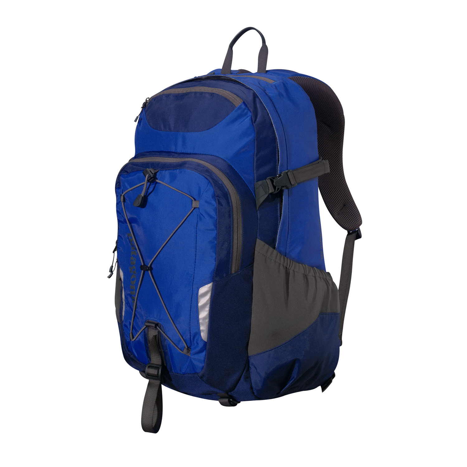 Entertainment A three-compartment daypack with a padded laptop sleeve, mounted shock cord for bulky items and plenty of carrying optionsKey Features of the Patagonia Chacabuco 32L Backpack: Generous main compartment with dump pockets for quick organization on the go; secondary compartment with internal organization has plenty of options for electronics and daily supplies, including a lanyard to secure keys; padded laptop sleeve is raised off the ground to protect from impact; sleeve secures with a buckle closure and doubles as an insulated hydration reservoir complete with tube port Exterior zippered pocket for quick access to essentials; microfleece-lined pocket for sunglasses and electronics; stretch-woven pockets accommodate a wide range of water bottle shapes and sizes; shock cord secures bulky items; reflective piping for visibility at night Airflow-mesh shoulder straps and back panel; adjustable sternum strap with emergency whistle Top-mounted, reinforced haul handle 32 L / 1953 cu in (1 lb 13.6 oz) 839 g Fabric: Body: 420-denier 100% nylon oxford plain weave. Base: 840-denier 100% ballistics nylon. Lining: 200-denier 100% polyester. Stretch-woven pockets: 92% nylon/8% spandex. All treated with a DWR (durable water repellent) finish - $61.95