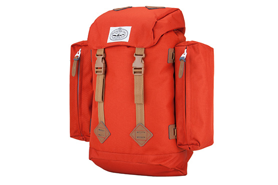 "Camp and Hike When did backpacks get so complicated? The Rucksack is a classic old school design that looks as good now as it did 30 years ago. It comes with removable side pouches that strap to the sides for toiletries, a water bottle or other accessories. Take the pouches off and use them as internal organizers. Once they are off, the bag is much slimmer and is a great size for daily use at school or the office. It has a padded internal laptop sleeve that fits most 15"" laptops to seal the deal. The Riding Pack dimensions are 12 X 5 X 18 with a total carrying capacity of 28.6 liters. The main compartment comes in at 21.6 liters, the two side bags are at 2.3 each, and the top bag fits 2.4 liters. This is an everyday pack, not an expedition pack, It's not meant for loads over 20lbs, and the side pouches aren't meant to carry heavy stuff either. They work great for a water bottle or a magic tarpit, don't load them down with anything heavier than that. OUR SECOND GENERATION OF BAGS HAVE BEEN UPGRADED AND ARE TOUGHER AND MUCH MORE WATERPROOF:Key Features of the Poler Rucksack Backpack: 1000D Campdura body fabric and are lined with 420D nylon Nylon webbing is seatbelt webbing, super high tensile strength Our Cyclops logo is now embossed on all our snaps. All our leather pull tabs also have Camp Vibes embossed into them - $75.00"