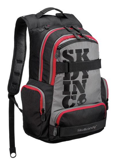 Skateboard Key Features of the Skullcandy Dream Team II Skate Backpack: Skate Straps Cord Port Internal Organizer 900D Poly - $44.99