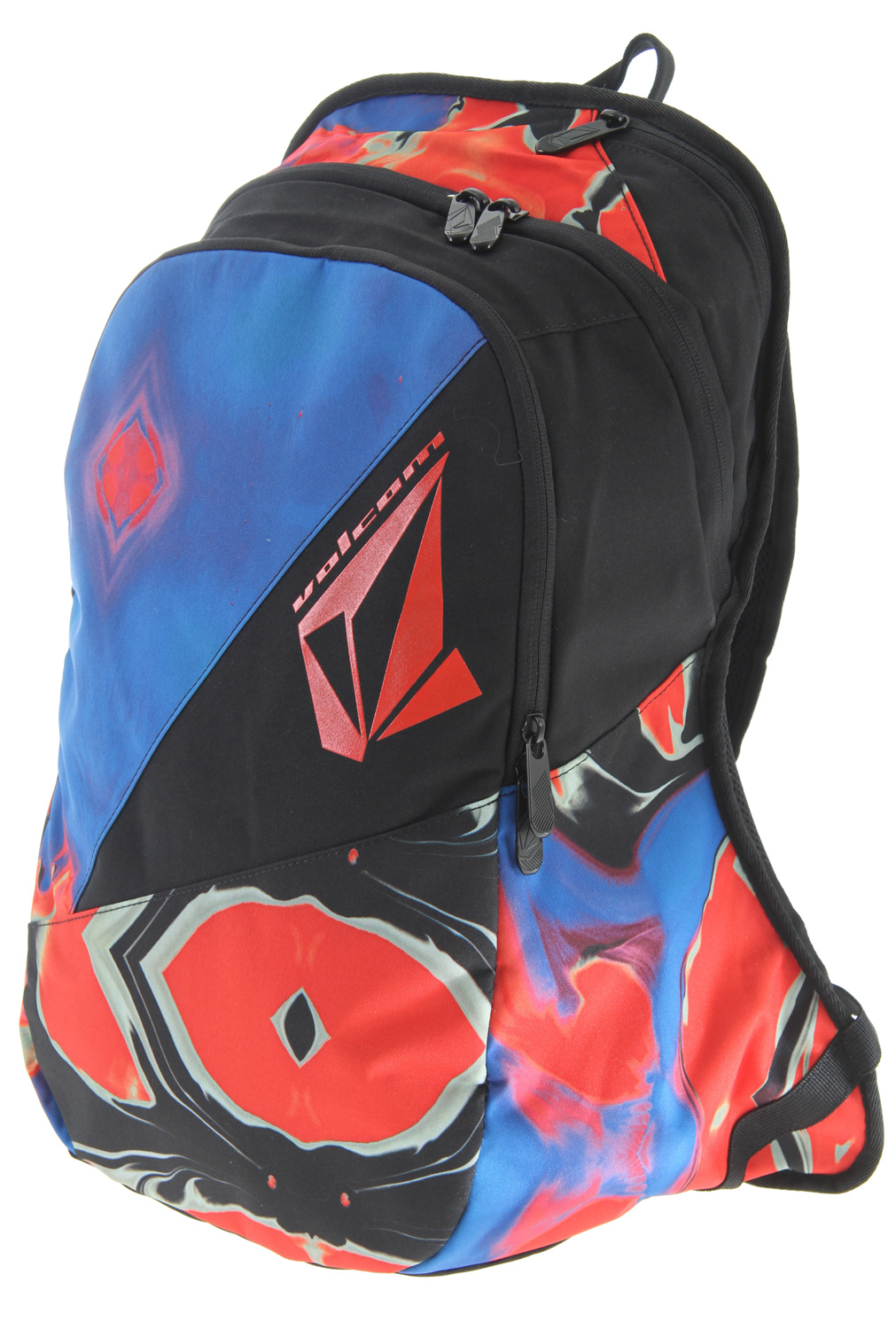"Surf Key Features of the Volcom Archetype Backpack: 2 Compartment backpack with volcom print artwork. dimension:18"" h x 12""w x 5 3/8"" d (45.5Cm h x 30.5Cm w x 13.5Cm d) volume: 1220 in (20 liters) weight: .9Lb (.41Kg) 100% Polyester - $27.95"