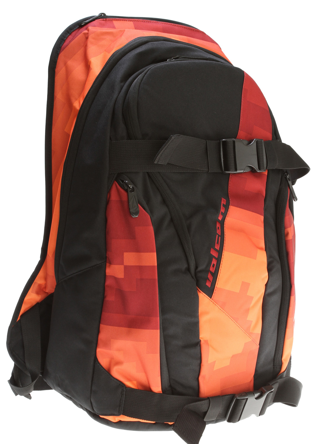 "Surf Keep on keeping on with the backpack that will never steer you wrong. Consider the Crustaceous surf pack your home away from home, with four main zipper compartments, a heat sealed wet/dry compartment, and a tarpaulin lined wax pocket. 300D polyester. Measures 20""H x 13""W x 6.5""D. - $44.95"