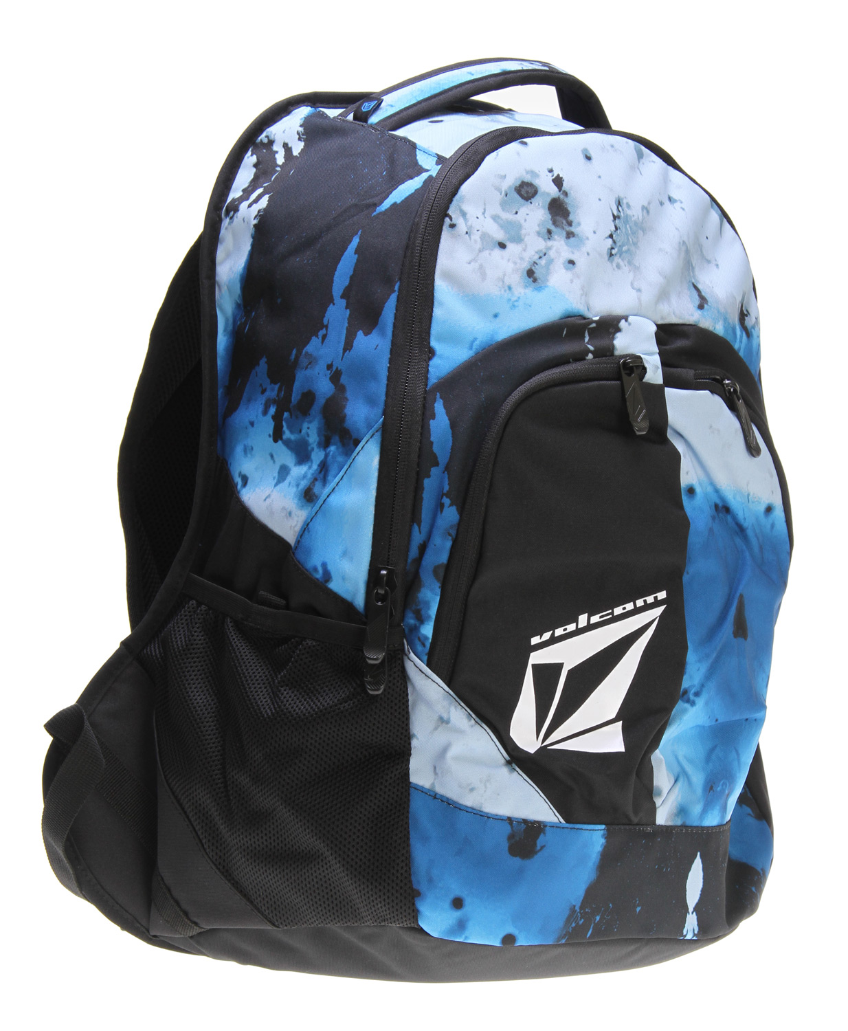 Surf This backpack, unlike your dog, will not eat your homework. Get down with the stone. Youth against establishment and let the kids ride free!Key Features of the Volcom E2 Backpack: 300d polyester Polyester lining Zipper closure Volume: 1891in [31l] Dimensions: 19.75 x 13 x 7.75 inch [50 x 33 x 20cm] Weight: 1.5lb [0.66kg] - $28.95
