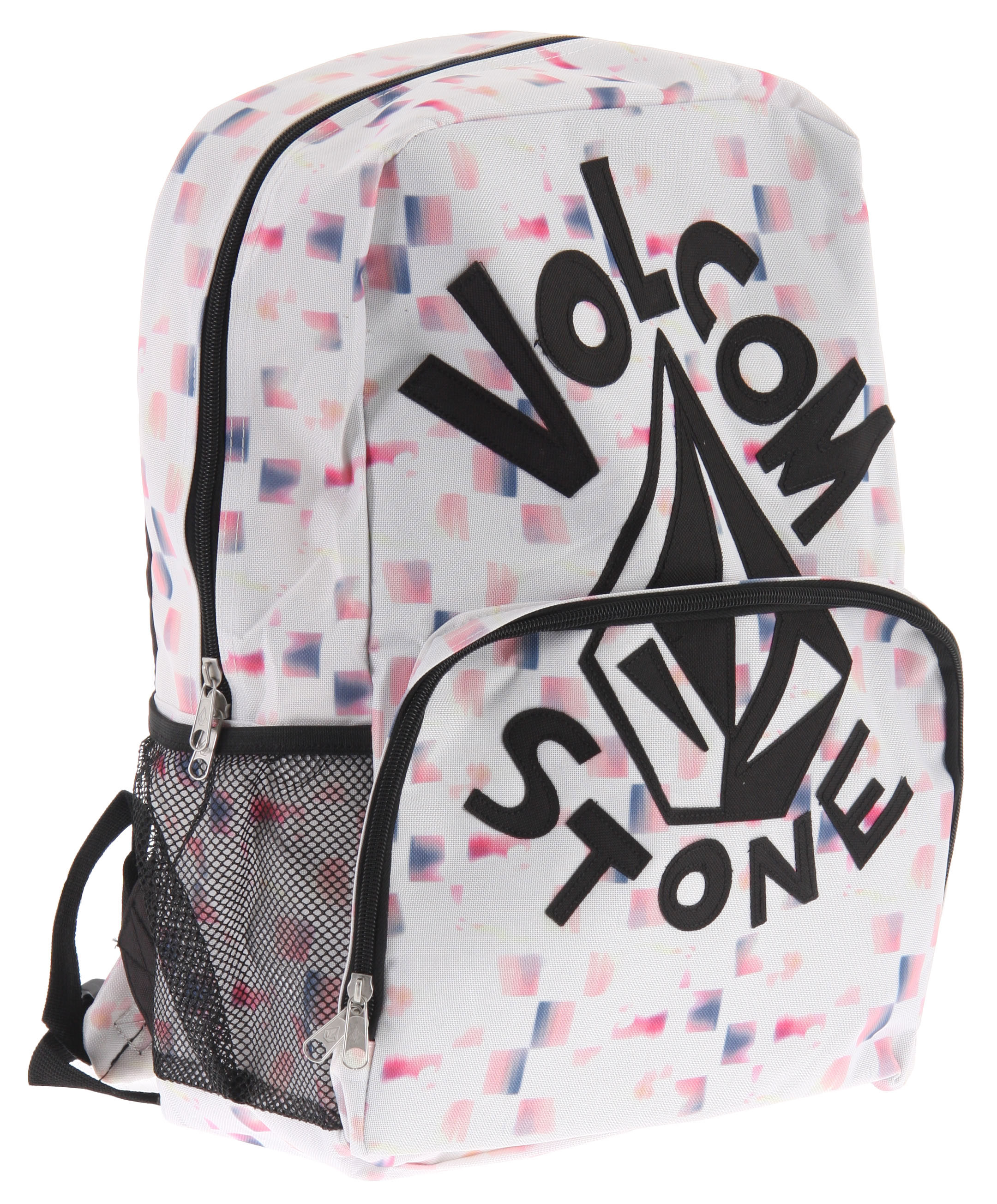 "Surf Key Features of the Volcom Equator Backpack: Printed poly backpack .Large front pockets H2O pockets at sides 18""H x 11.5""W x 6""D 100% Polyester - $22.95"