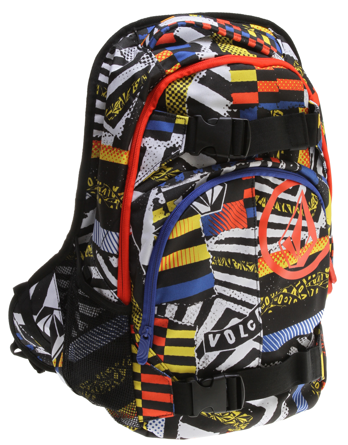 "Surf Key Features of the Volcom Equilibrium Backpack: Volume: 31L Dimensions: 19.75 x 13 x 7.75"" Weight: 1.5lb Two compartment backpack with 'Circle Stone' and 'Volcom' prints As part of Volcom's V.Co-logical effort, a portion of the proceeds from the sale of this style will be donated to charities affiliated with 1% for the Planet - $45.00"