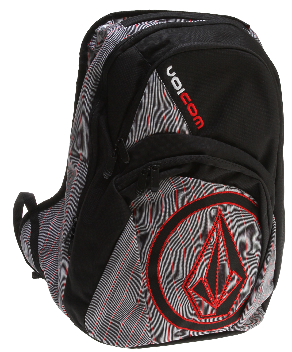 "Surf Are you tired of all the horrible looking back packs out there for sale? Don't you wish there where better looking back packs that caught your interest? Are you an adrenalin junkie? Do you love board sports? Well if you are into board sports and love adrenalin then you will probably love this Volcom Purma Backpack it's a great looking back pack at a great price. It's a great way to express your inner adrenalin junkie and carry your books at the same time. It's very light weight and durable so you will be happy for some time to come.Key Features of the Volcom Purma Backpack: Volume: 31L Dimensions: 19.75 x 13 x 7.75"" Weight: 1.4lb Four compartment backpack with 'Stone' applique and 'Volcom' embroidery As part of Volcom's V.Co-logical effort, a portion of the proceeds from the sale of this style will be donated to charities affiliated with 1% for the Planet - $34.95"