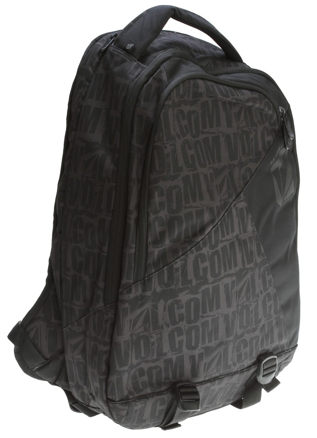 "Surf A great pack for school, the Volcom Silica Laptop Backpack has a few features that set itself apart from others in its class. Firstly, this laptop bag has a carry handle on top (like a regular school bag , unlike others who use the popular adjustable shoulder strap. Made from 300D Polyester, the bag is durable as well and with a volume of 27L, there is enough space to fit laptops of various sizes with ease. The Volcom Silica Backpack is a nice pick for those looking for a basic, reliable laptop bag that can withstand wear and tear.Key Features of the Volcom Purma Backpack:  Laptop Compartment Dimensions: 18"" x 12"" x 3""   Bag Dimensions 19.75"" x 13"" x 6.25""  Material:300D Polyester  Weight:1 lb 12 oz - $42.95"
