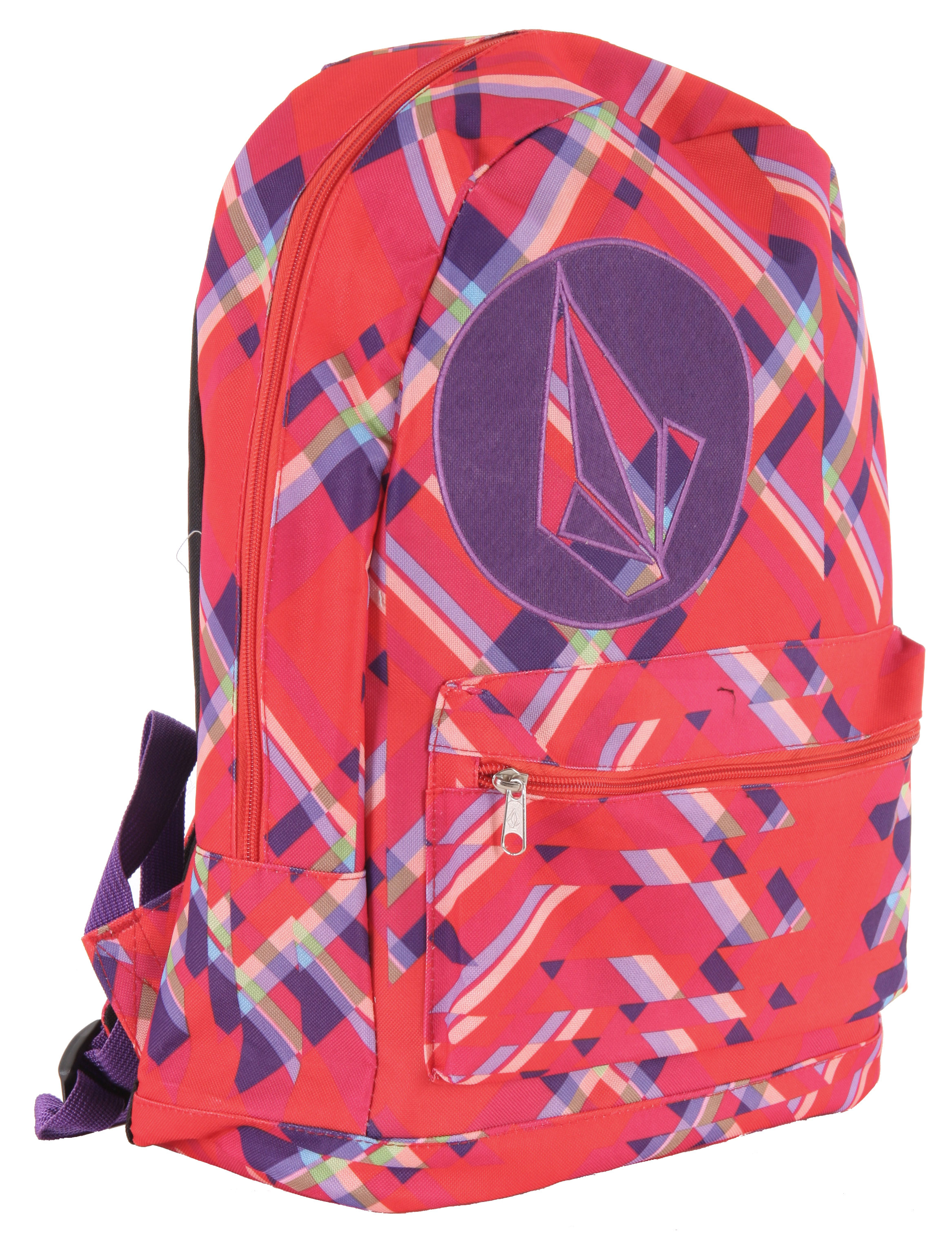 "Surf The Volcom Well Armed Backpack easily and comfortably carries your gear for years to come. The utility pack has an exterior front pocket so you can get to your things easily and the interior zipper pocket helps separate and organize your gear. With the big pack, you'll be able to carry more than enough gear, clothes, books and electronics along with you. The shoulder straps are padded so that you can move from place to place in comfort. The fabric is durable polyester so that your backpack will have a long life. The applique on the front shows that you do understand that Volcom is the brand to carry.Key Features of the Volcom Well Armed Backpack: 100% Polyester. Printed Poly Backpack With Circle Stone Applique At Front And Large Stone Embroidery At Back. Exterior Front Pocket And Interior Zipper Pocket. 14""W X 17""H X 6""D. Volume: 19 Liters. - $21.95"