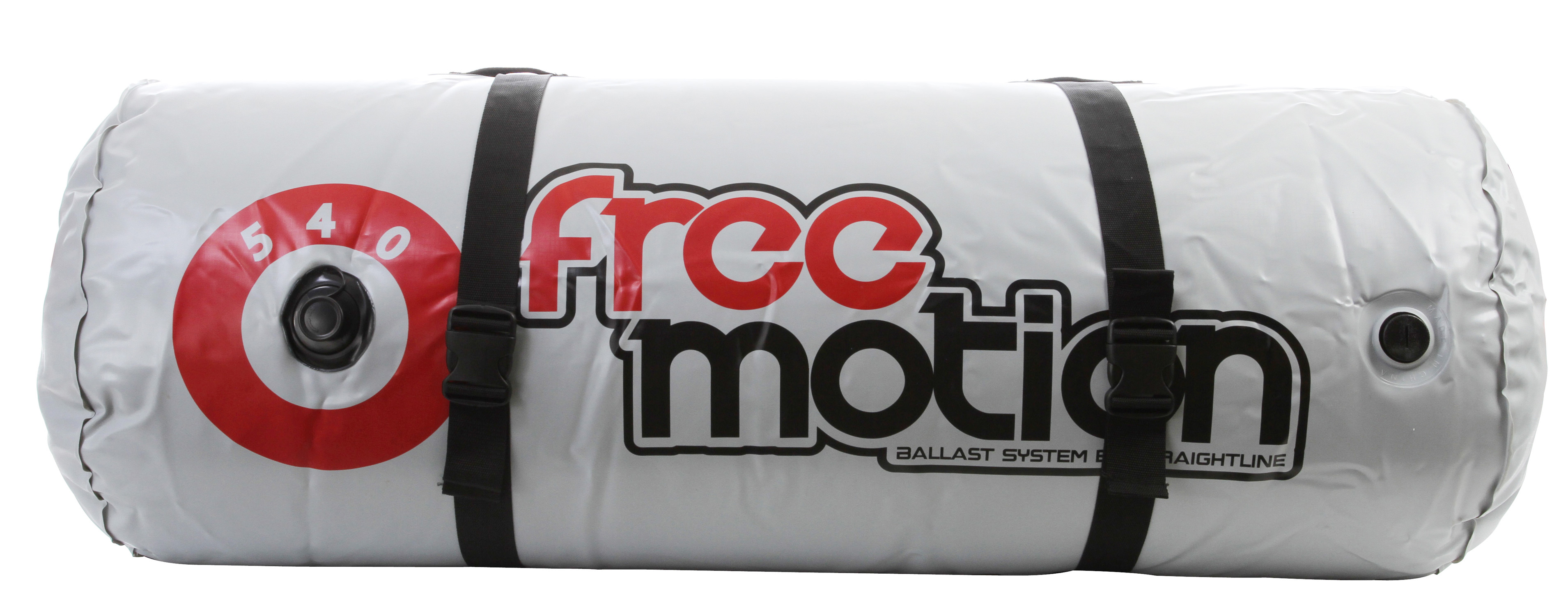 Key Features of the Freemotion Single Ballast Bag 540lbs: Heavy duty 30 gauge PVC 50in length, 20in diamteter Strong, electronically welded seams One link valve for clean filling/draining - only will work with Freemotion and Straight Line pumps - $64.95